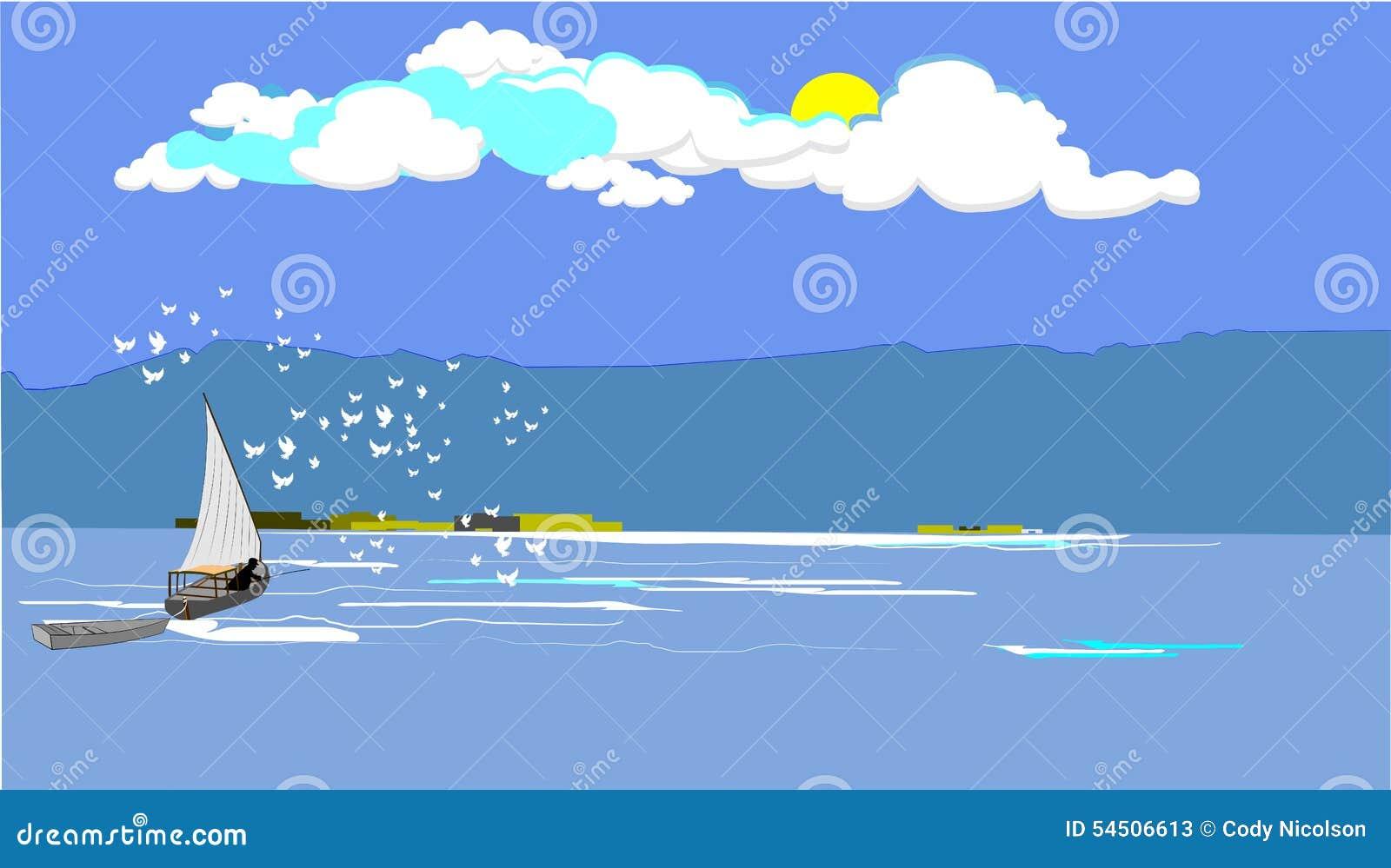 Pêcheur de mer Égée