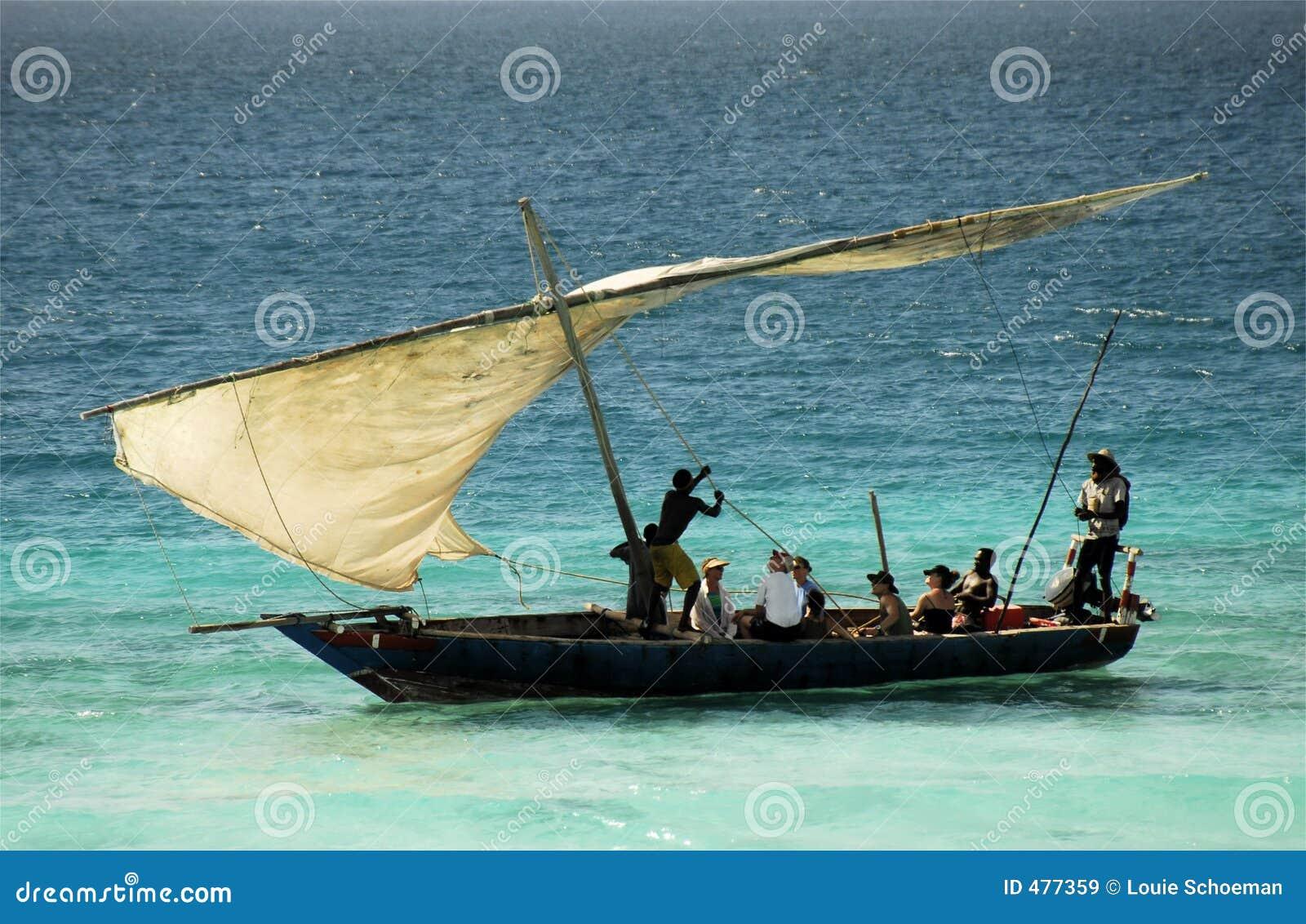 Pêcheurs sur l île de Zanzibar