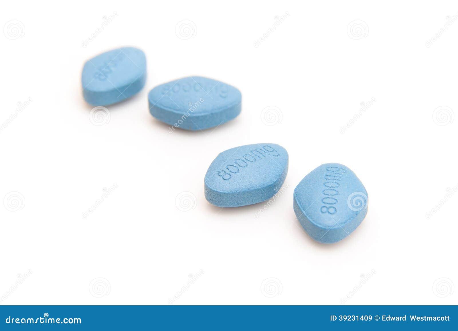 Píldoras azules genéricas de la disfunción eréctil