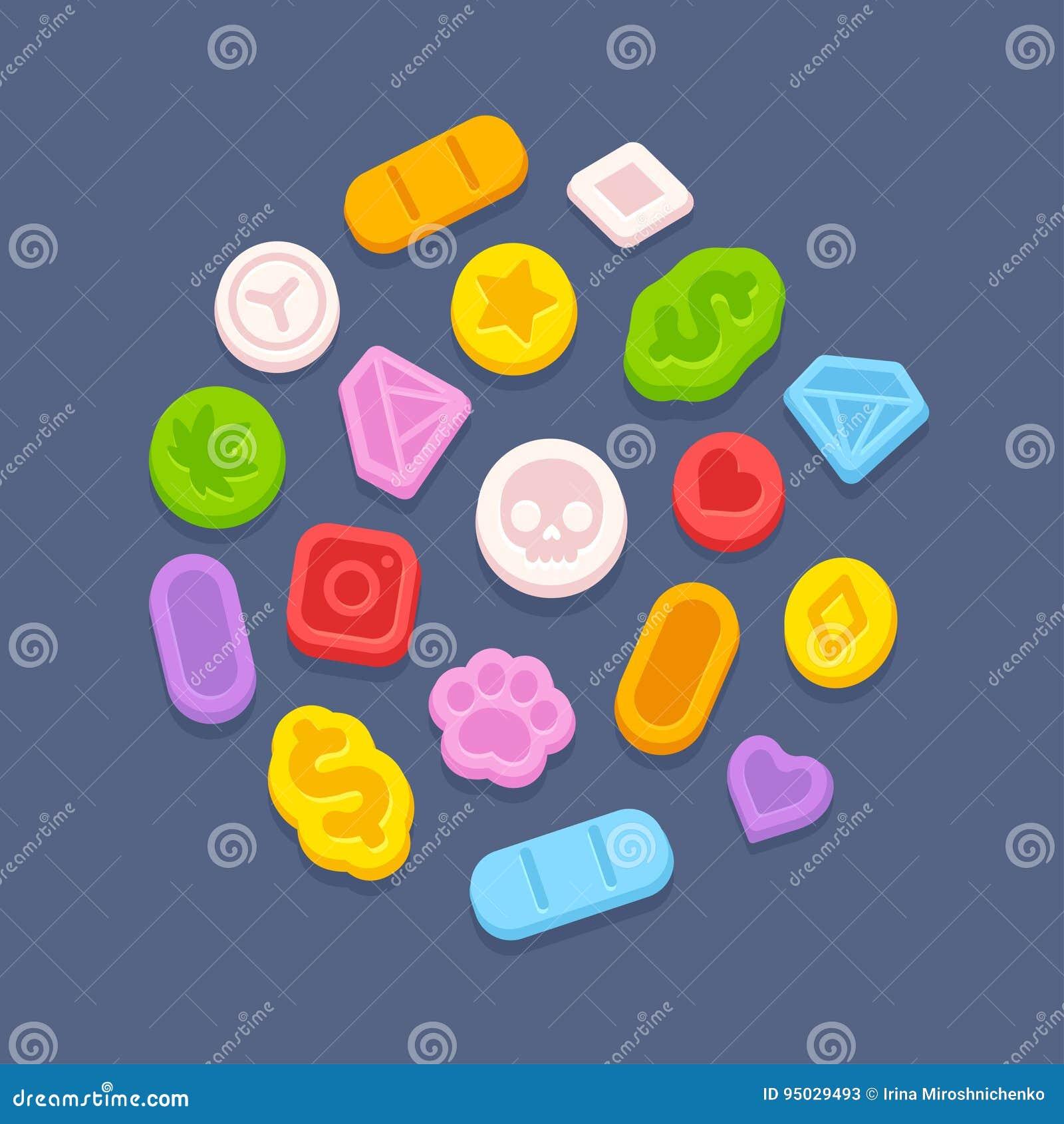 Píldoras del éxtasis MDMA