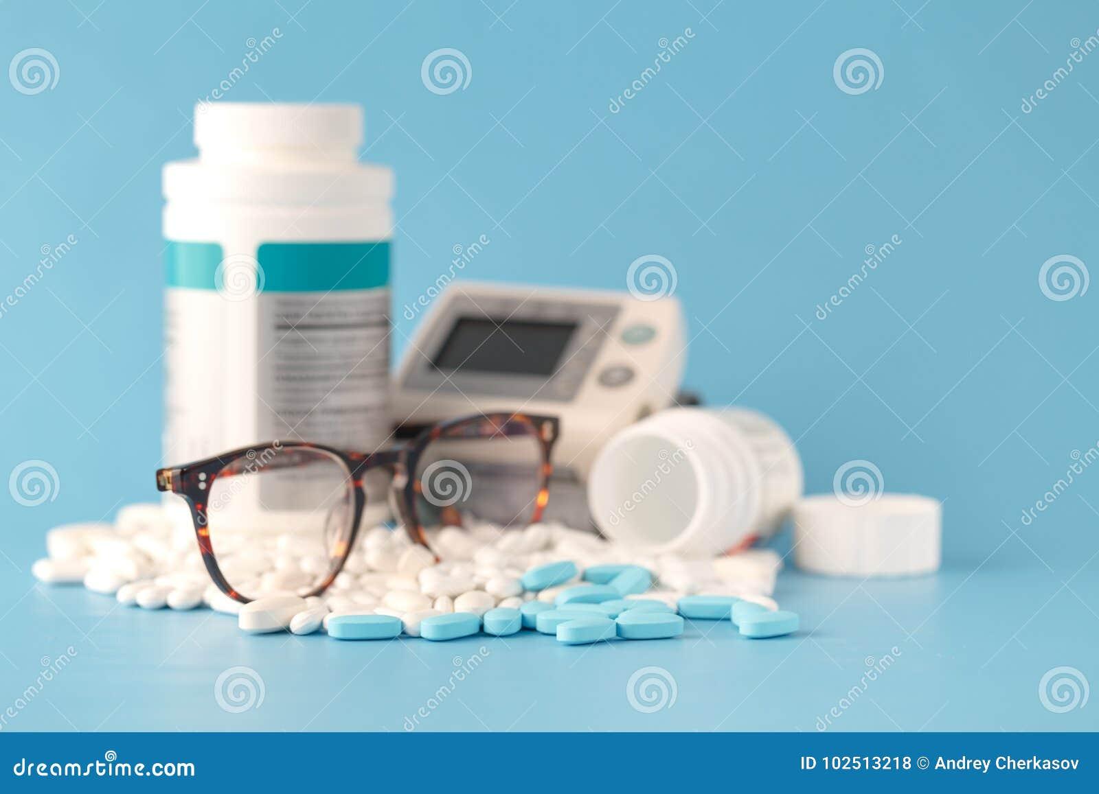 Píldoras, fondo médico