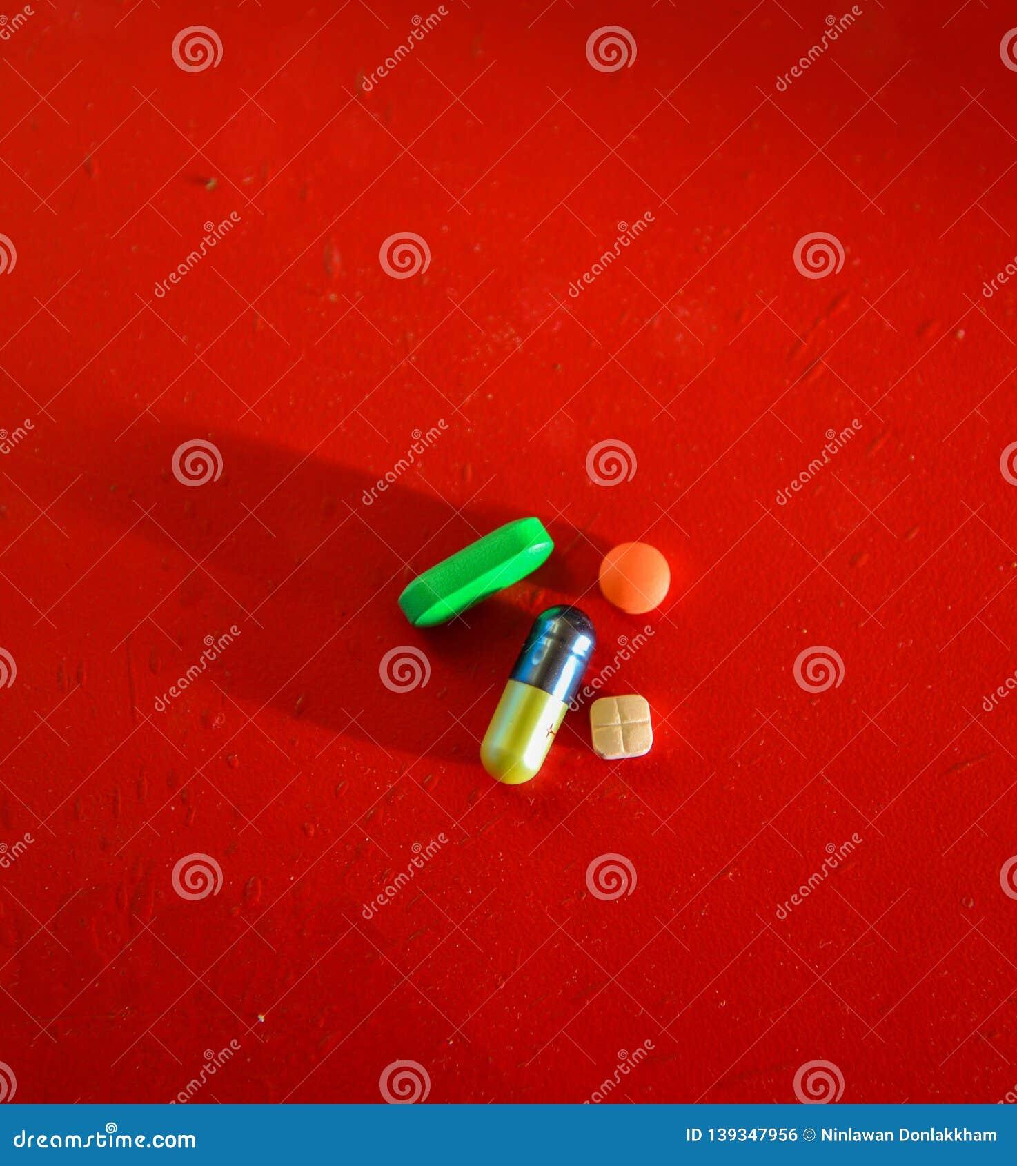 Píldoras médicas o de la vitamina