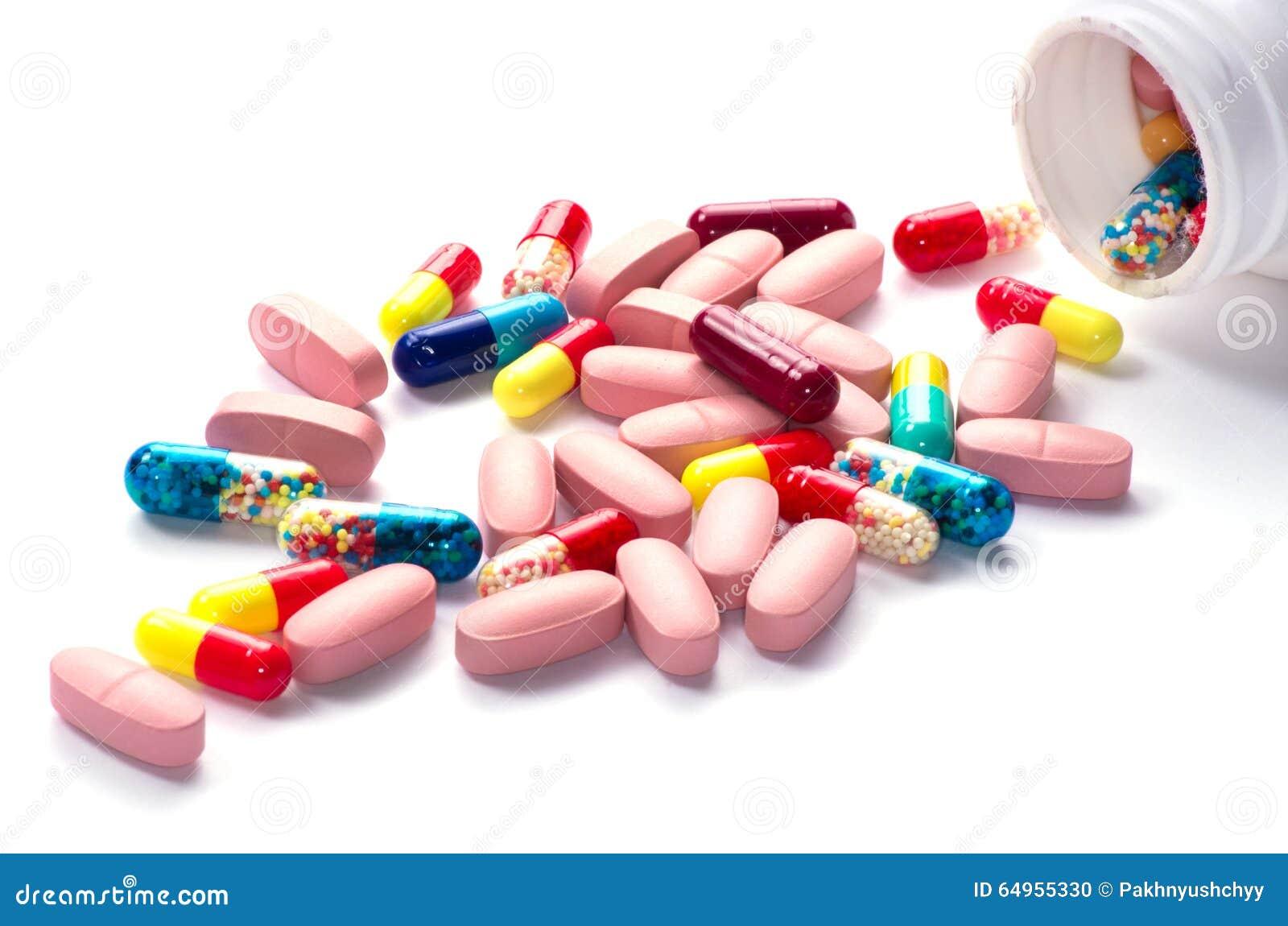 Píldoras una botella de píldora