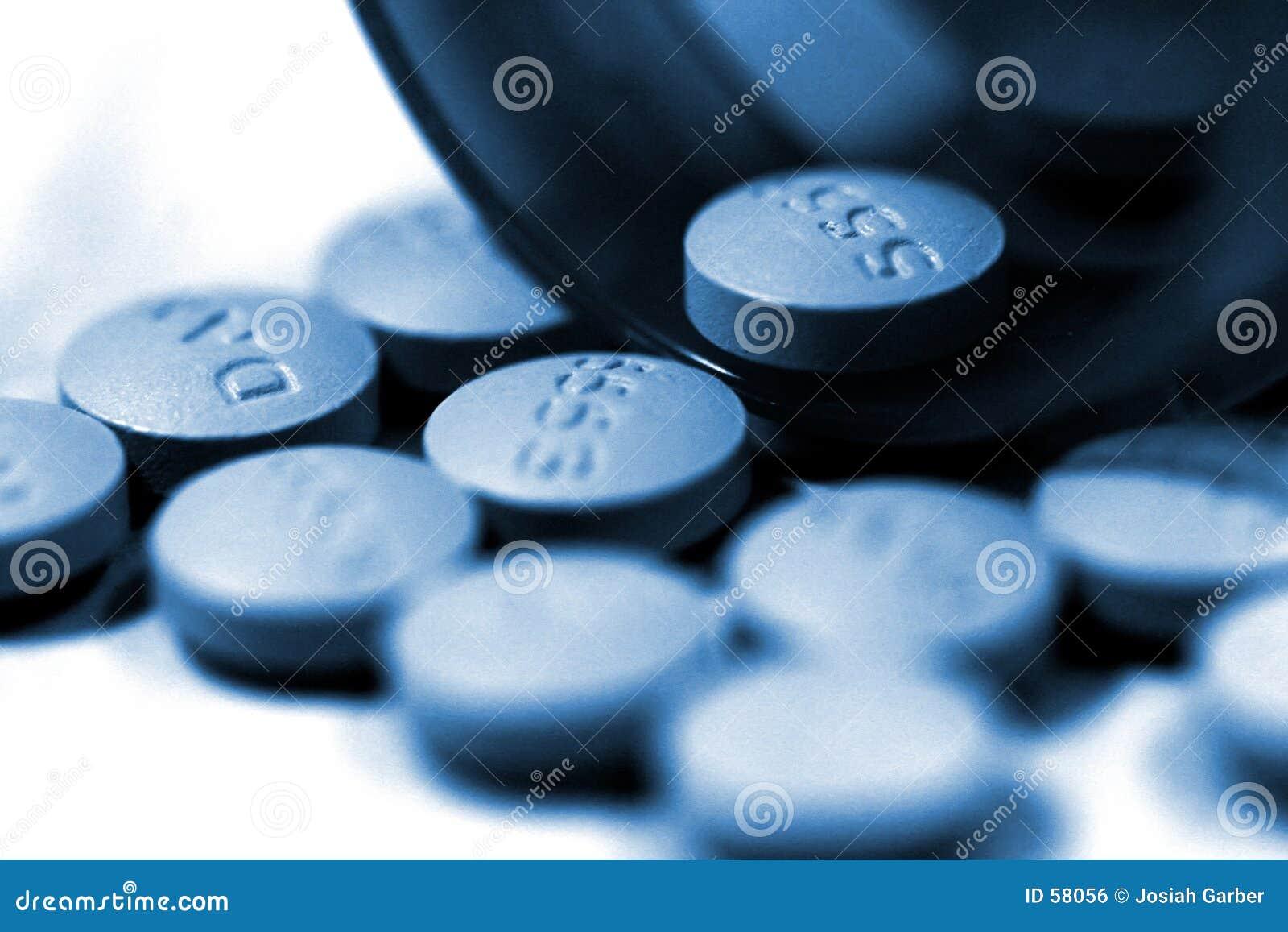 Píldoras y botella