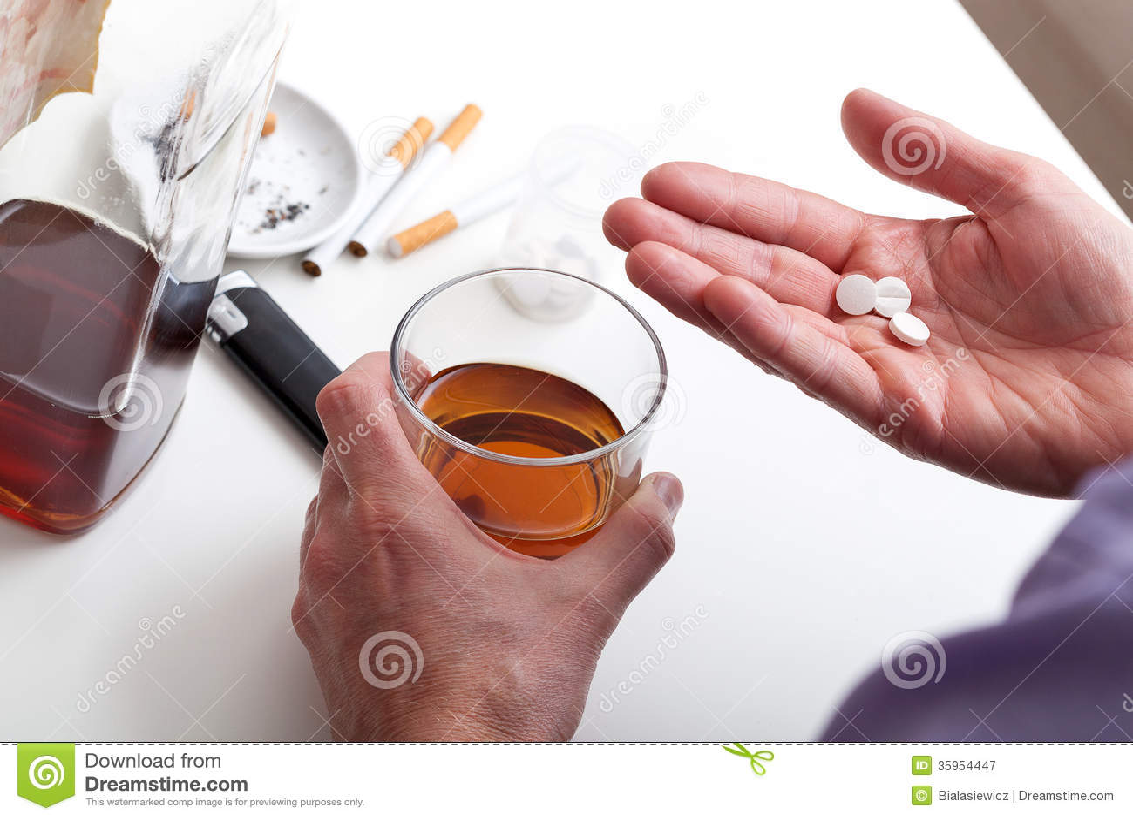 Píldoras y whisky