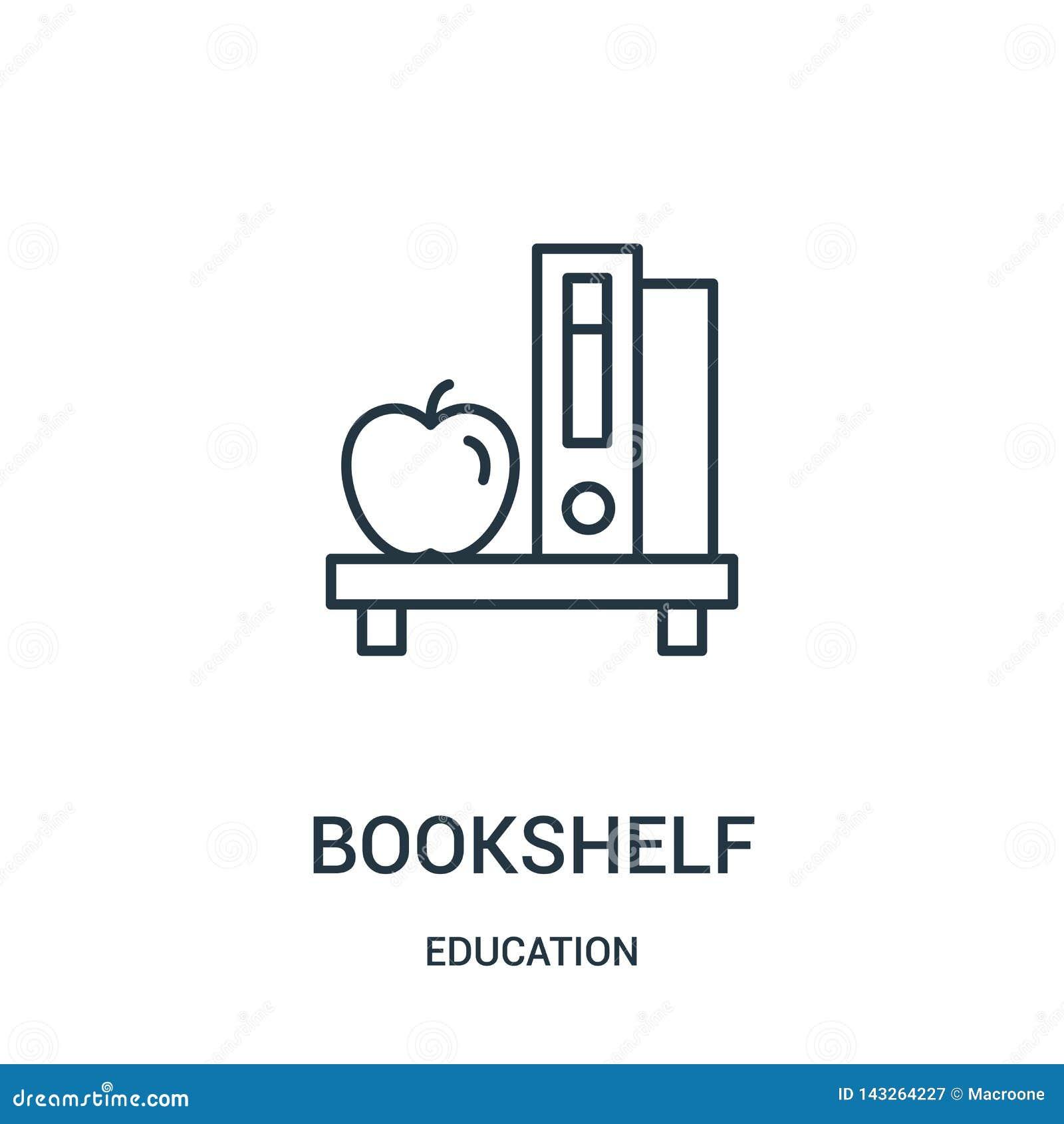 Półki na książki ikony wektor od edukacji kolekcji Cienka kreskowa półka na książki konturu ikony wektoru ilustracja