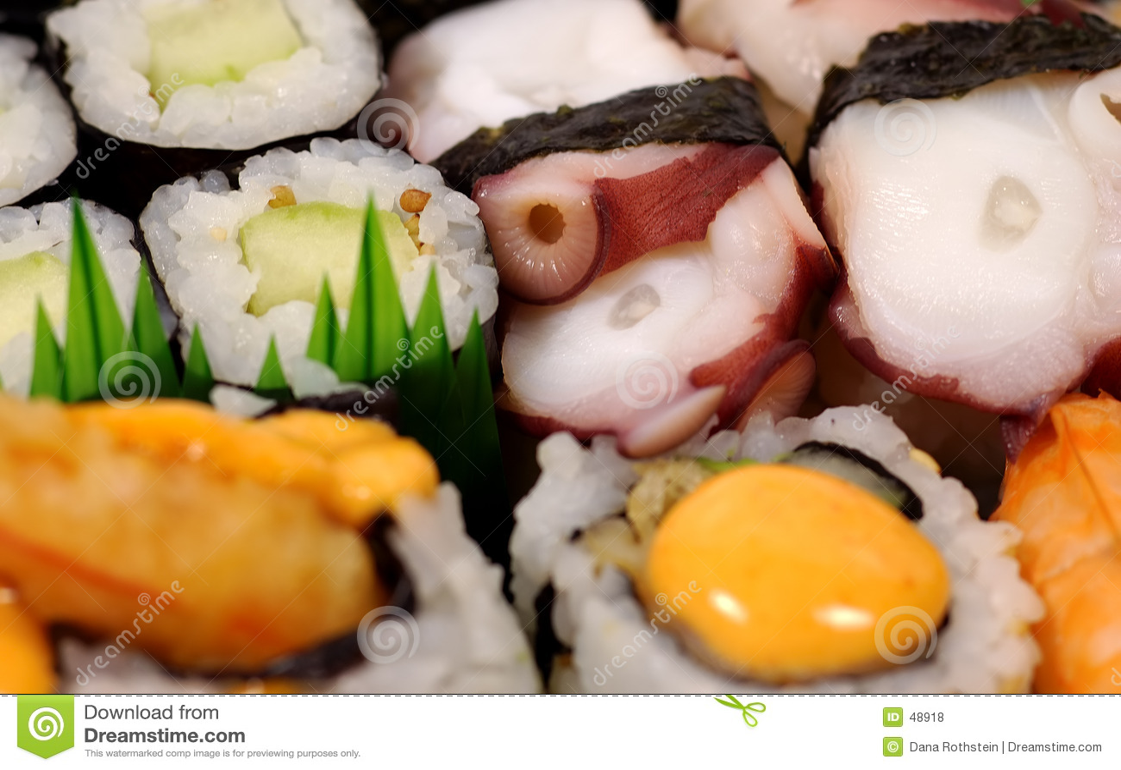 Półmiska sushi