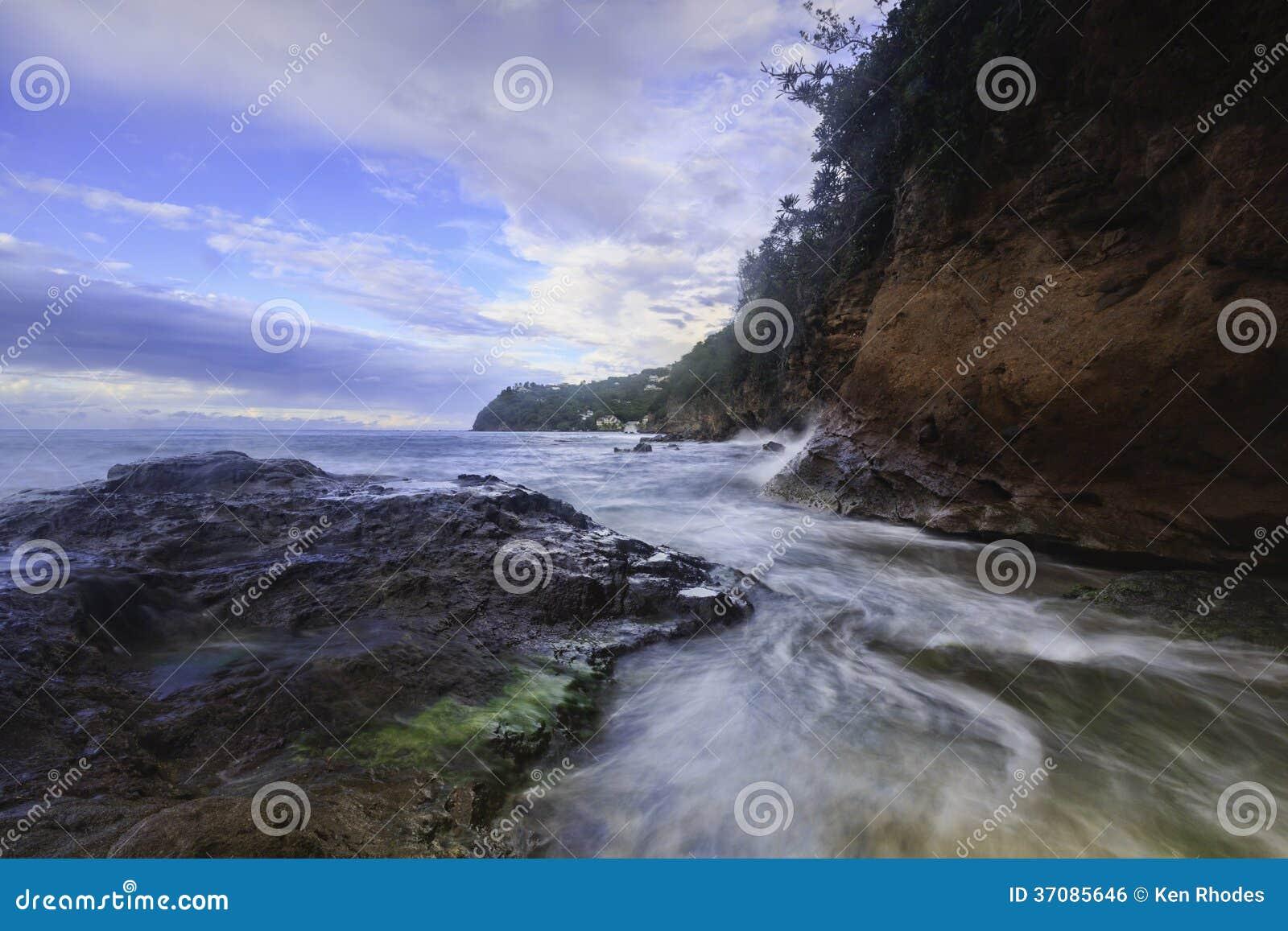 Download Północna świętego Lucia Linia Brzegowa Zdjęcie Stock - Obraz złożonej z przeznacza, wyspa: 37085646