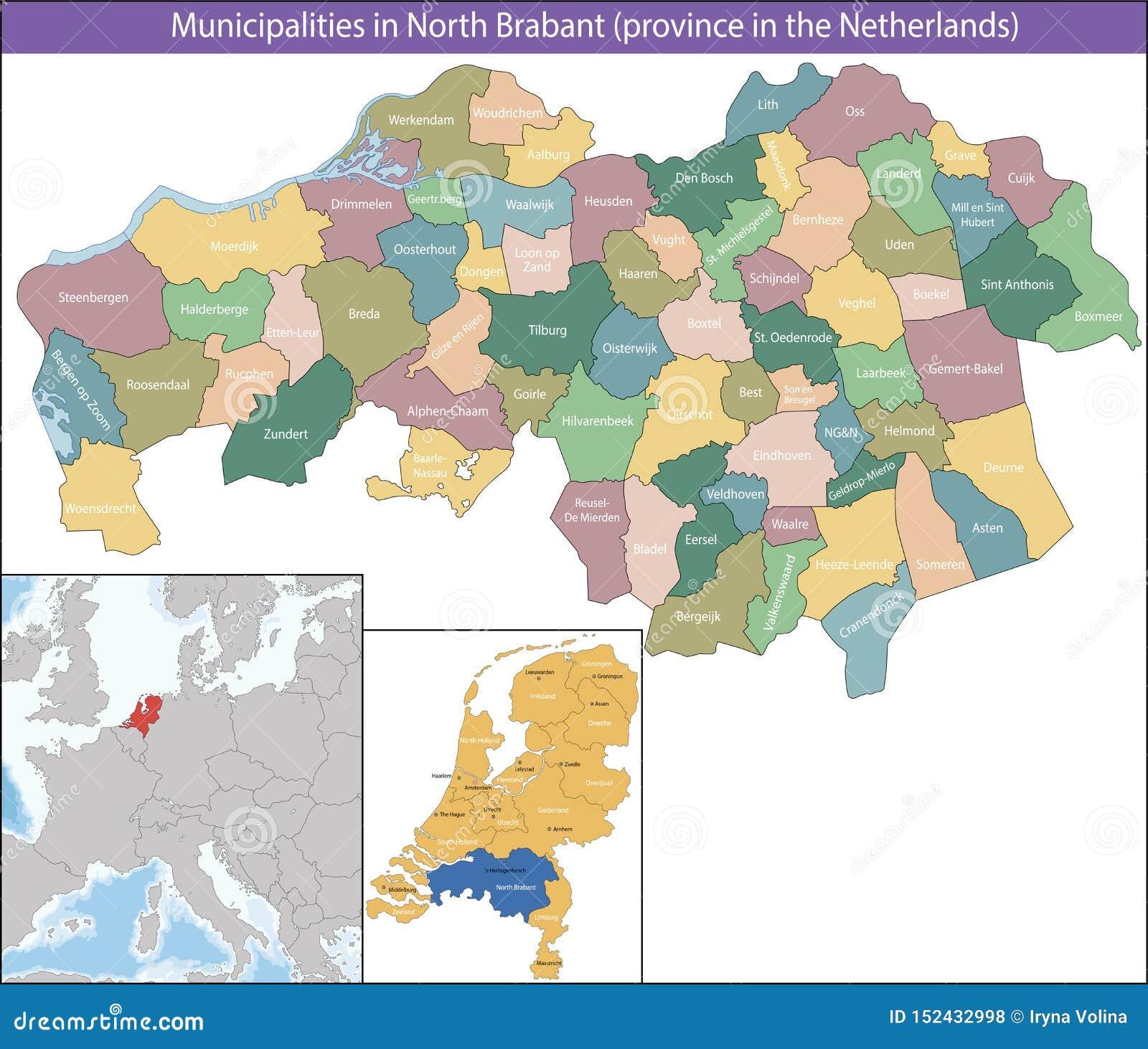 Północny Brabant jest prowincją holandie