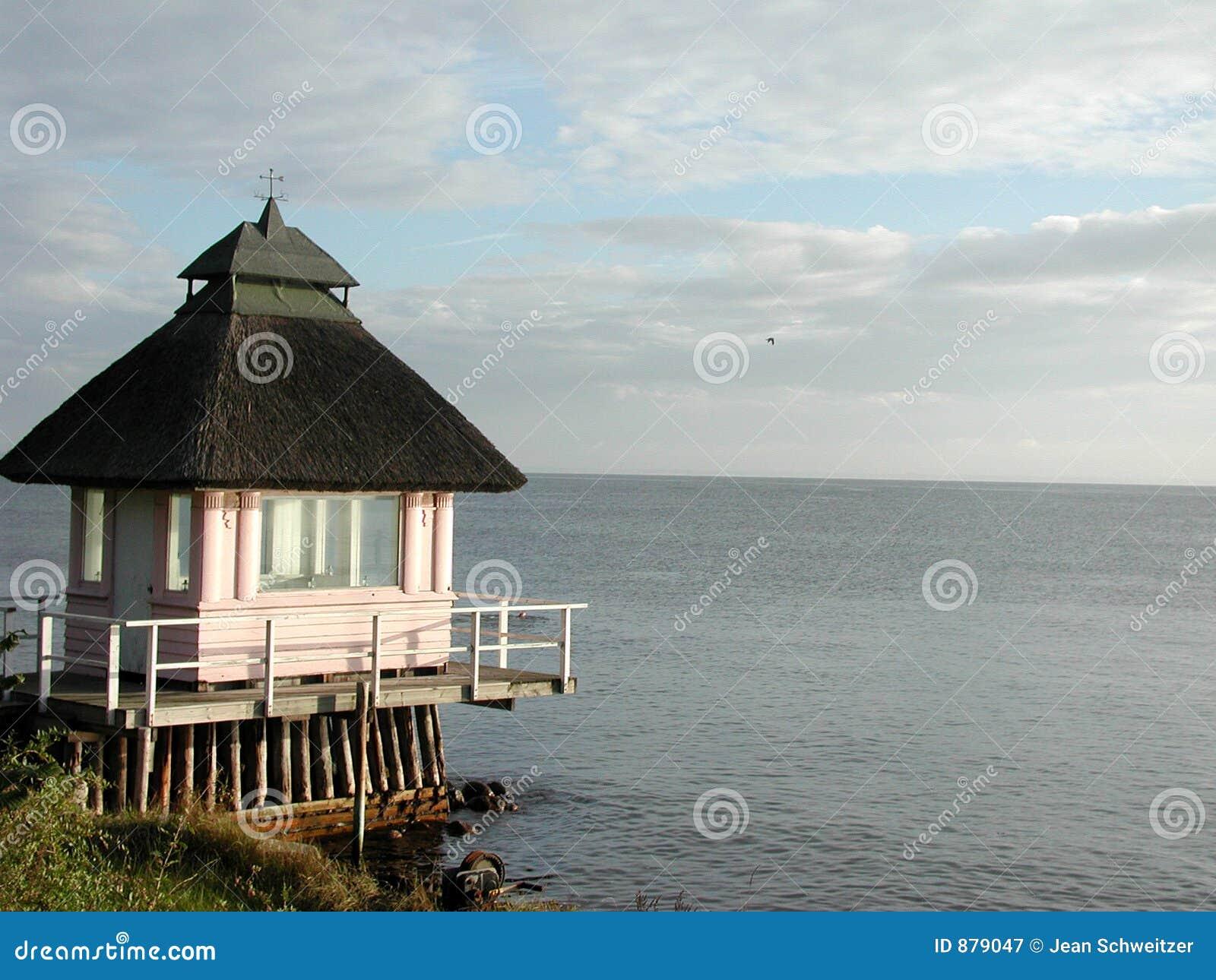 Północy seeland domku na plaży