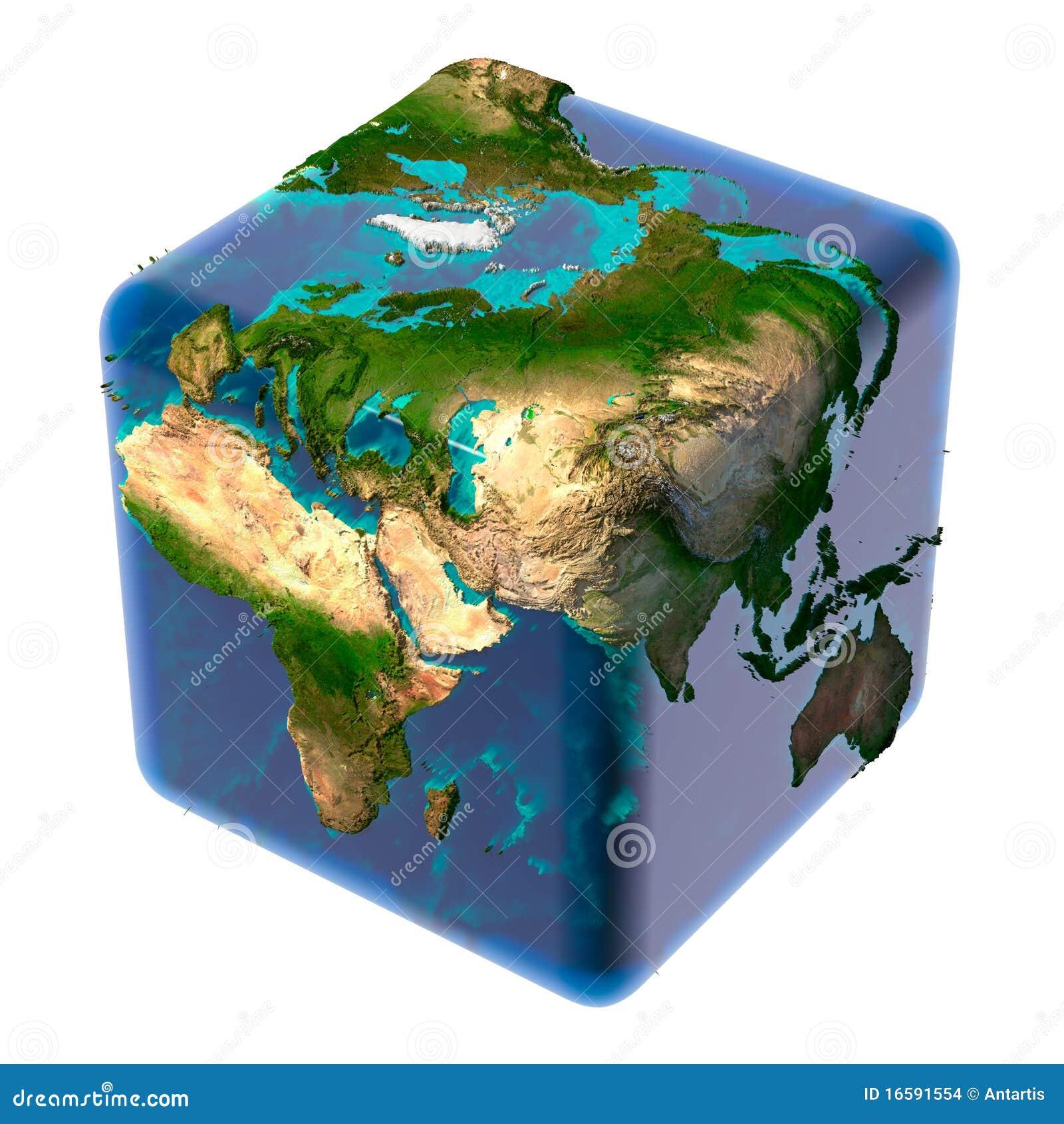 Półprzezroczysty kubiczny ziemski ocean