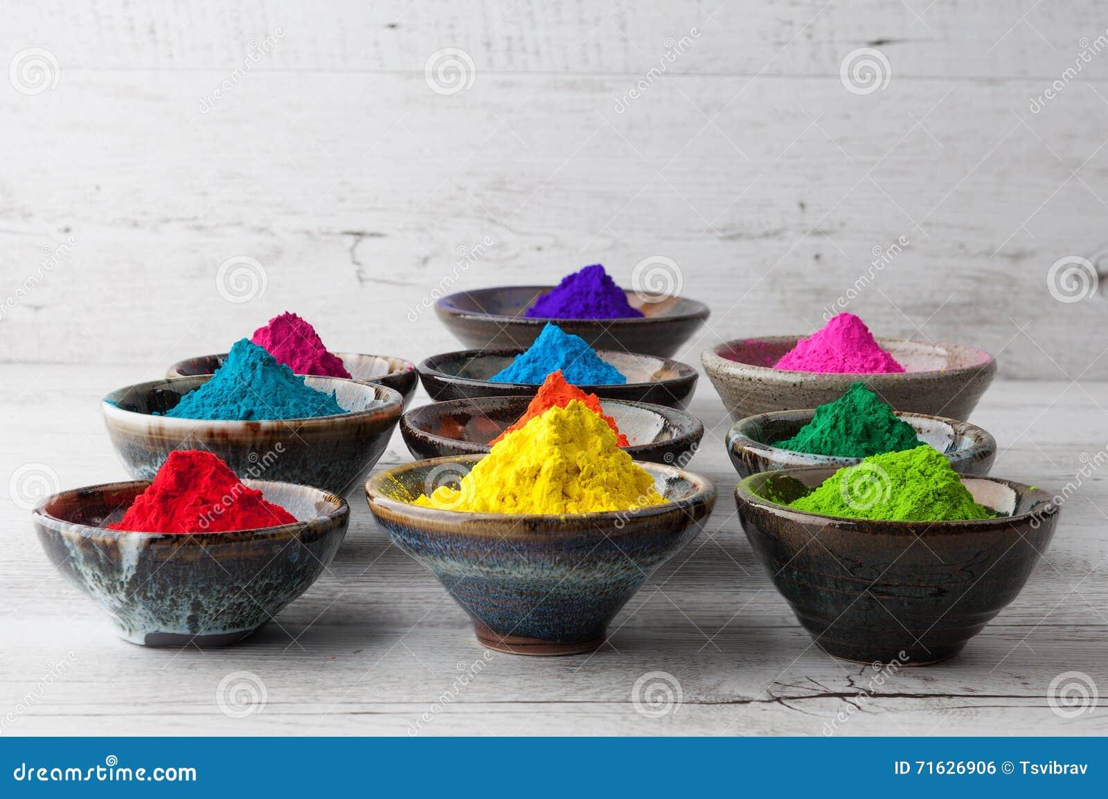 Pó colorido vívido de Holi