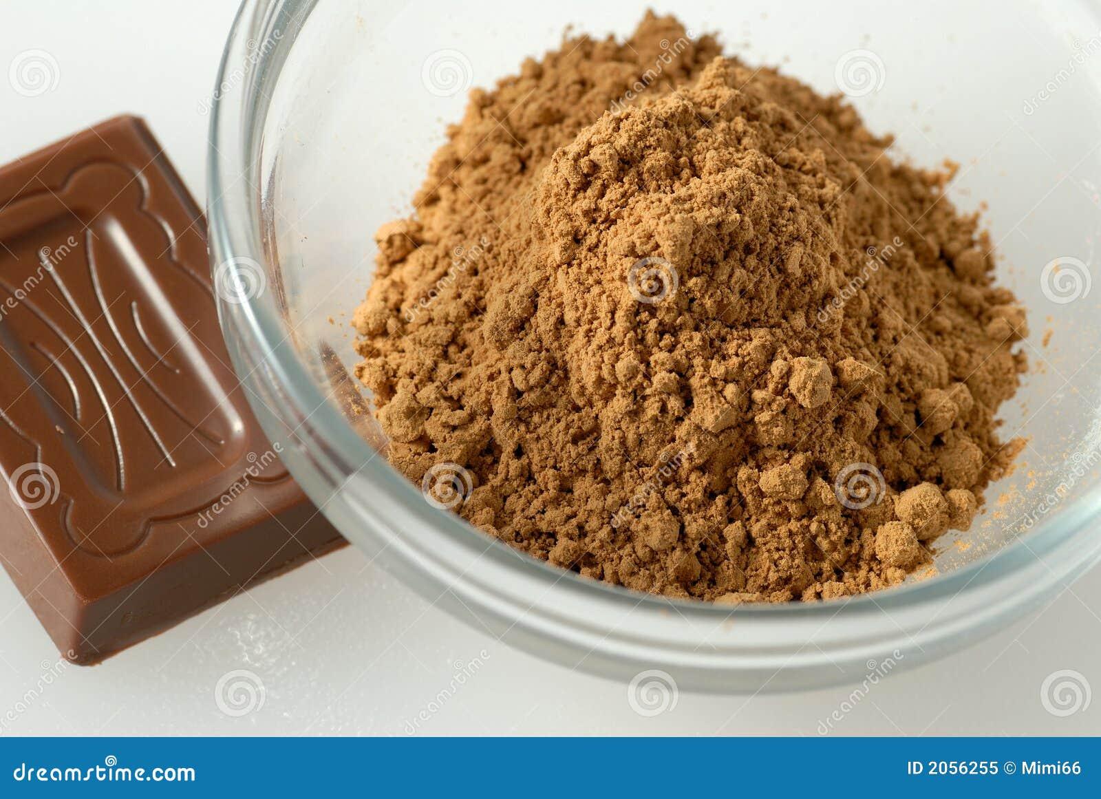 Pó de Guarana e um chocolate da parte