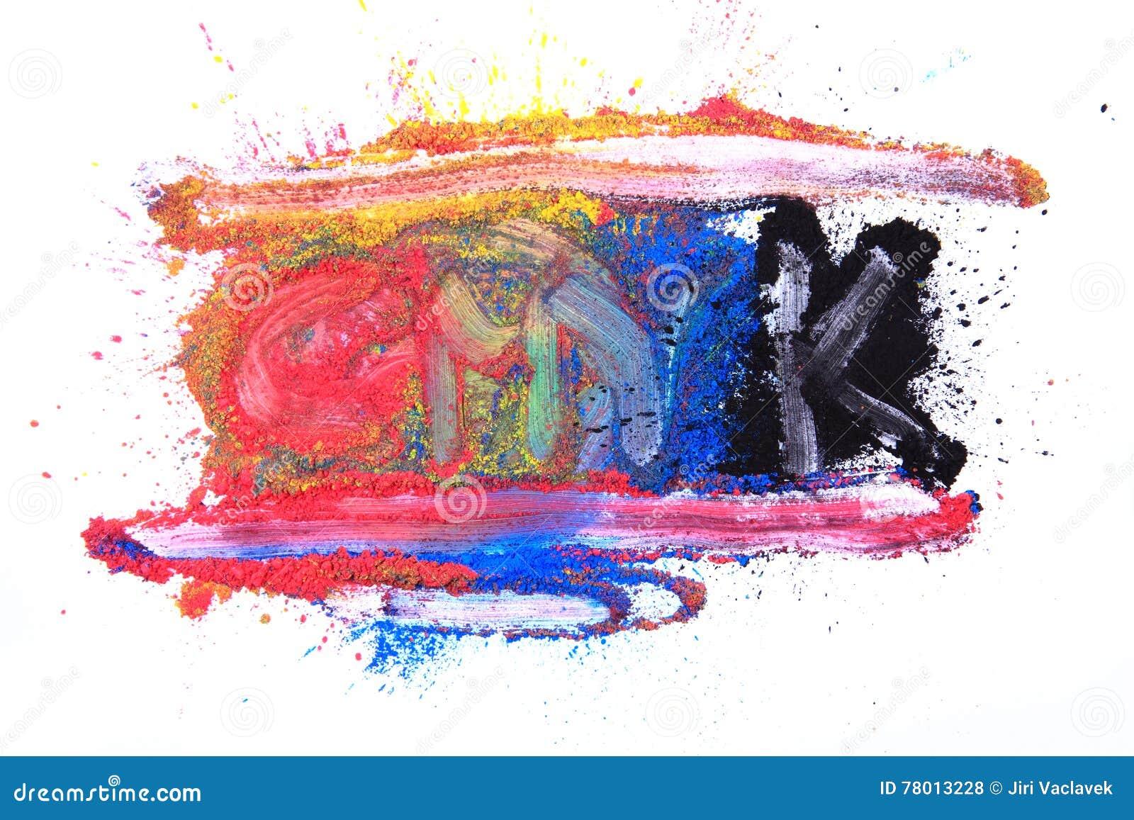 Pó de tonalizador de Cmyk & x28; ciano, magenta, amarelo, black& x29;