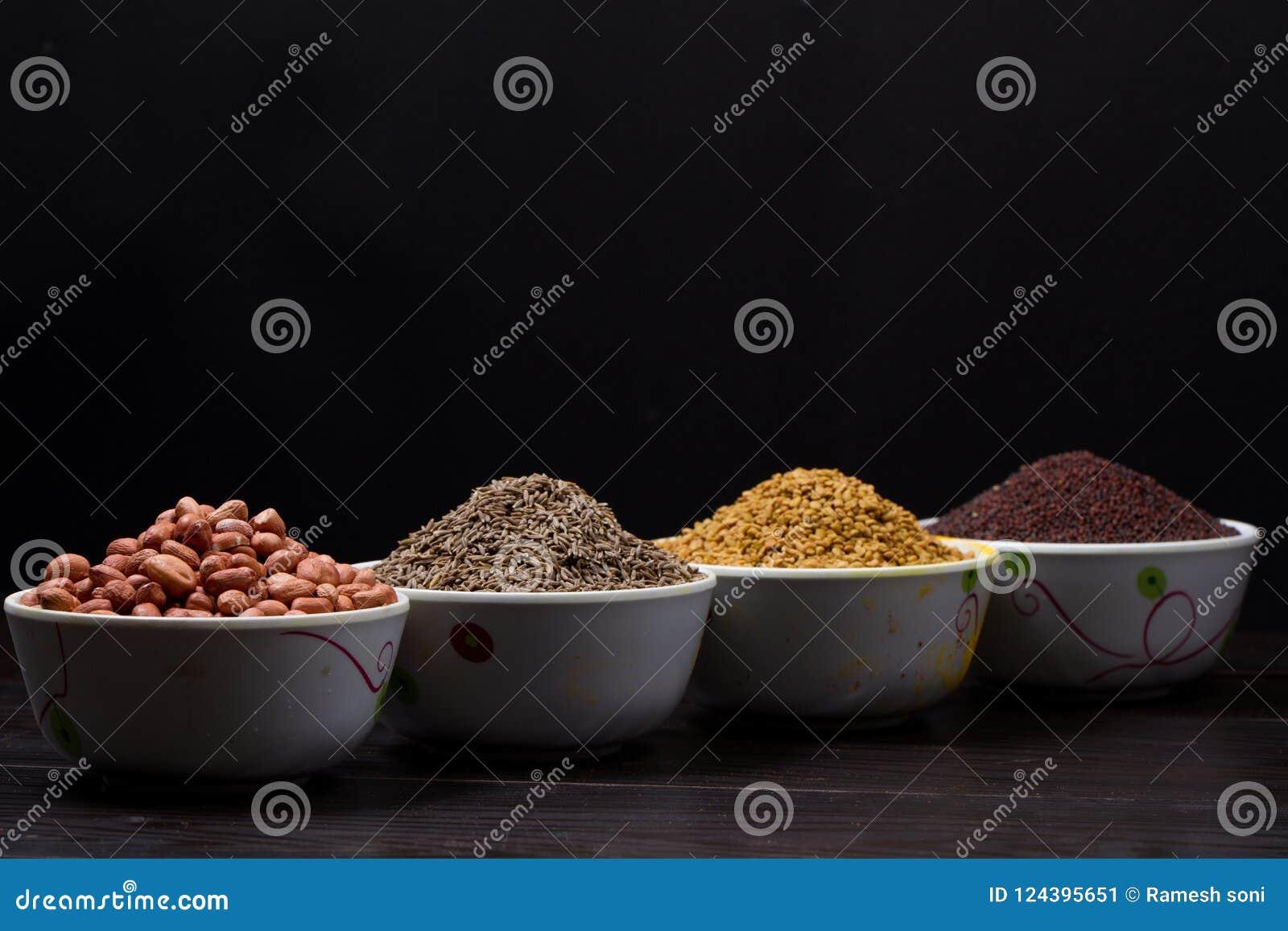 Pó indiano do alimento