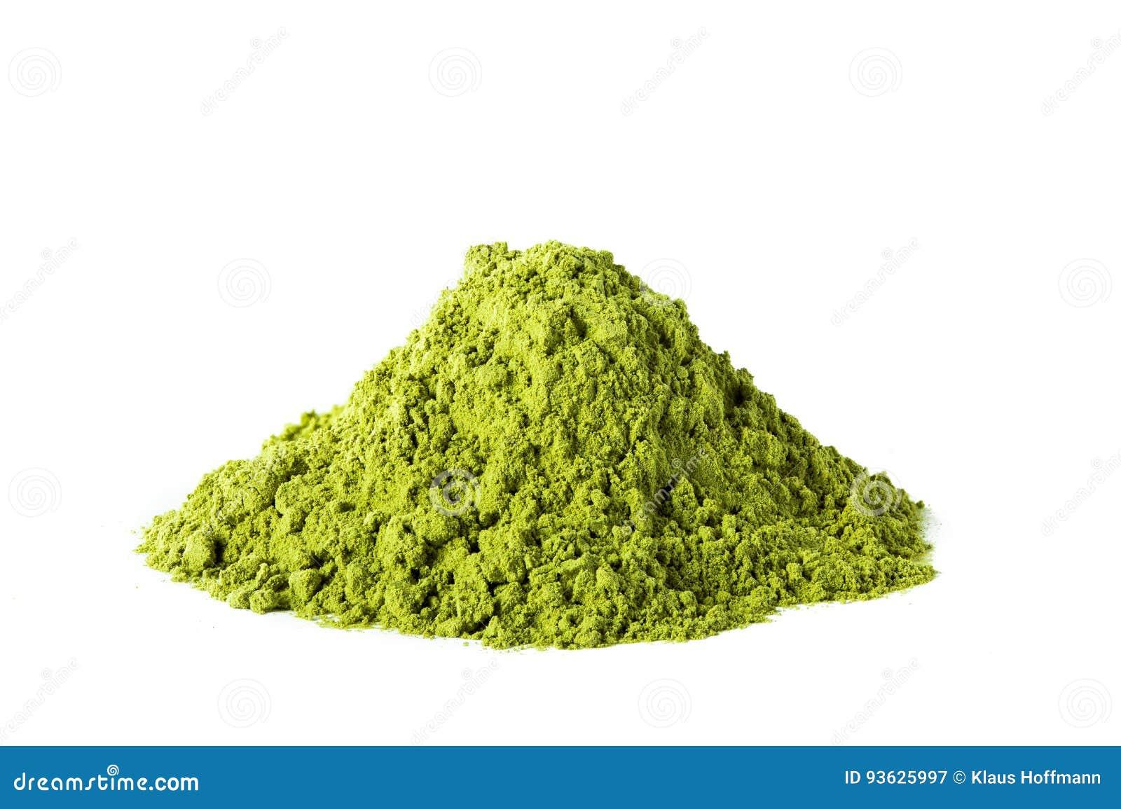 Pó verde do chá do matcha