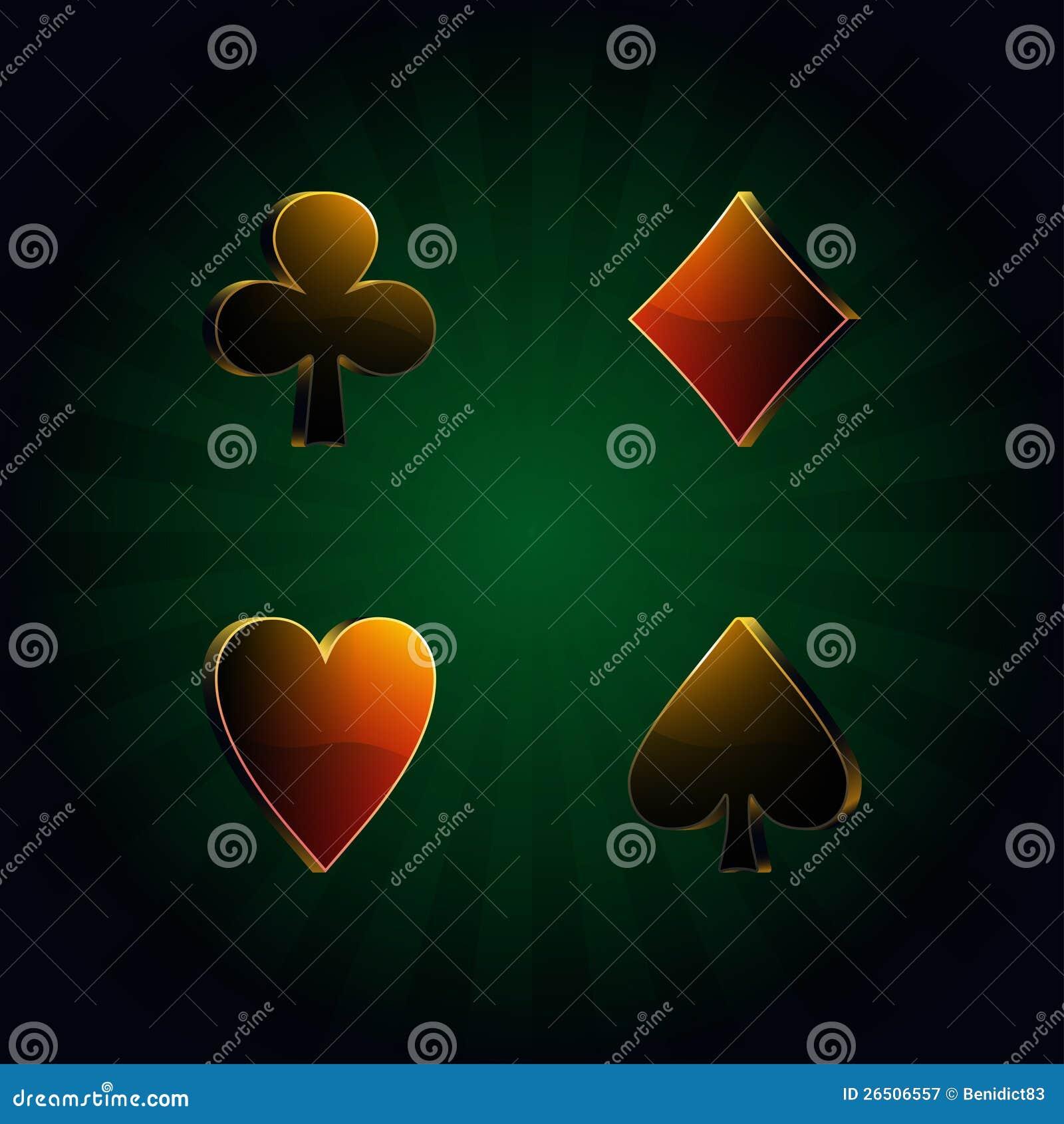 Póquer, illustr do vetor