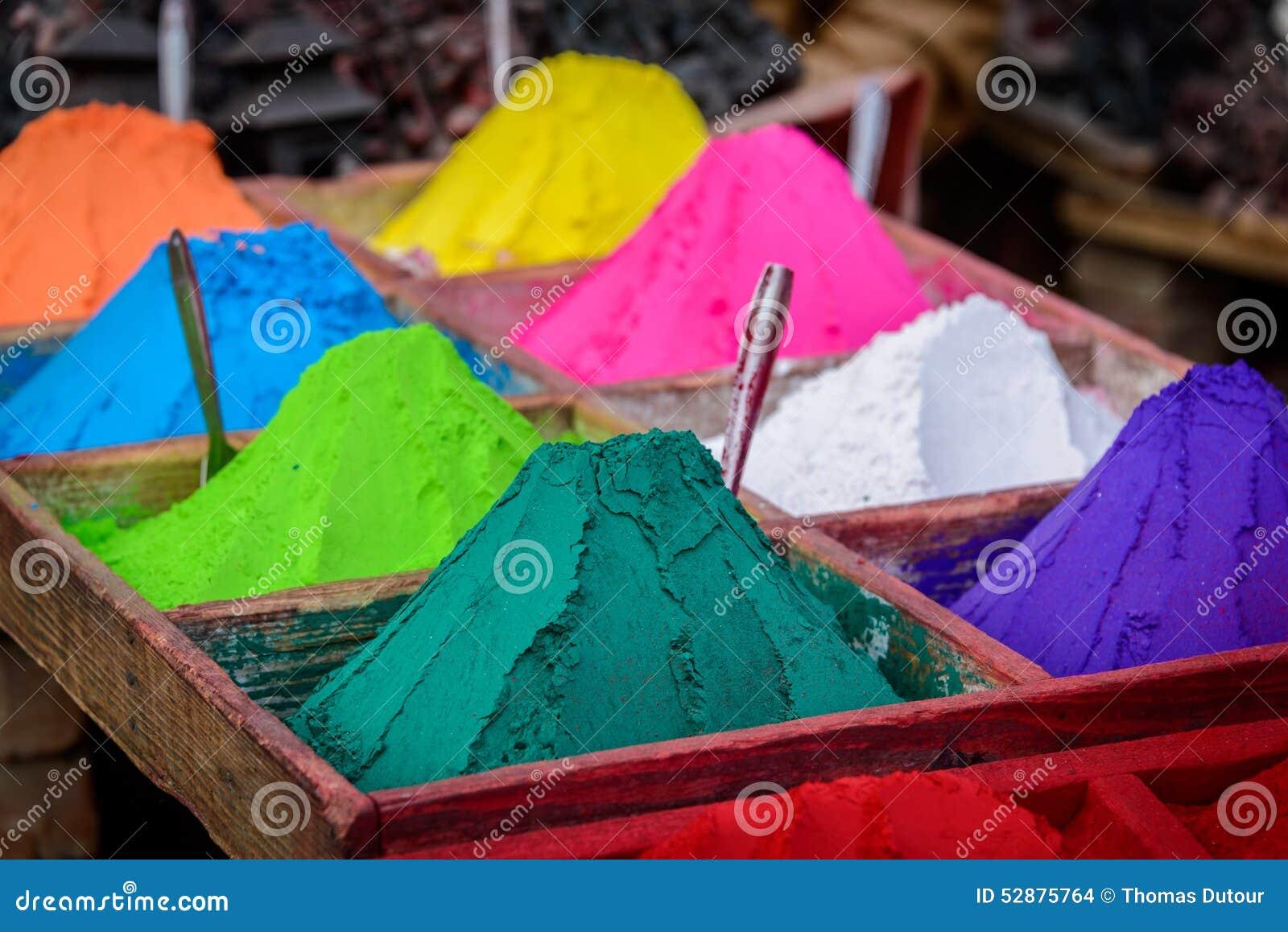 Pós coloridos em Kathmandu
