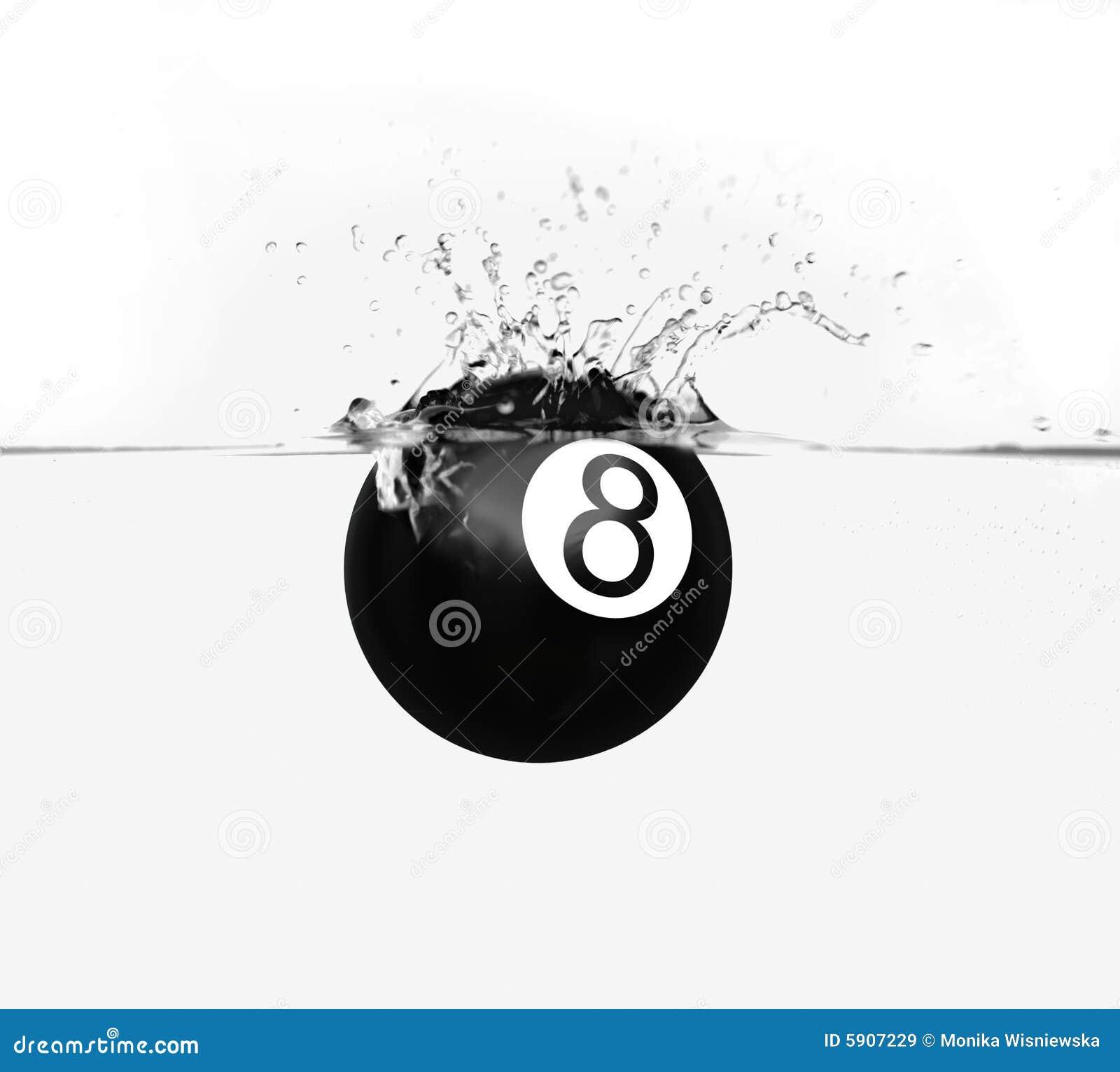 Pölfärgstänk för boll åtta