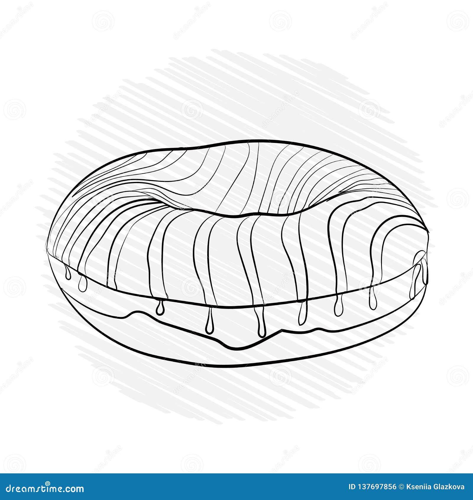 Pączka pasiasty cukierki Wektorowy ilustracyjny czerń