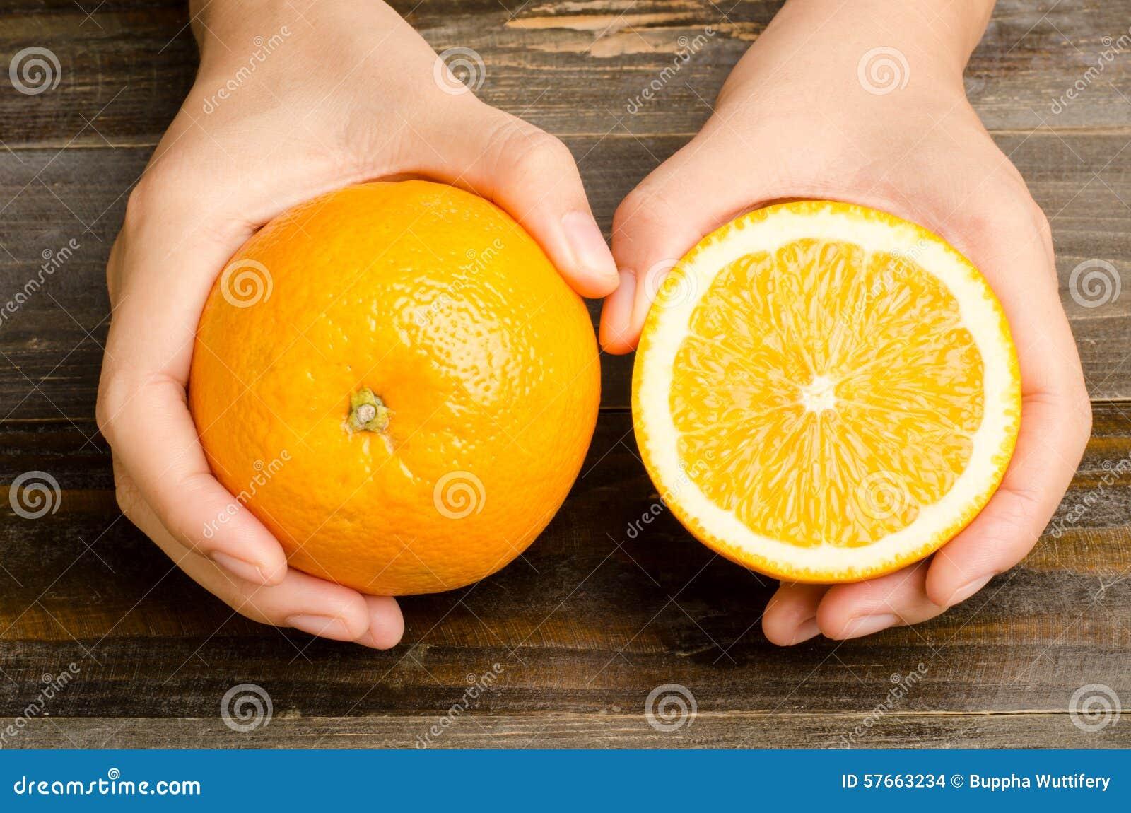 Pępek pomarańcze owoc