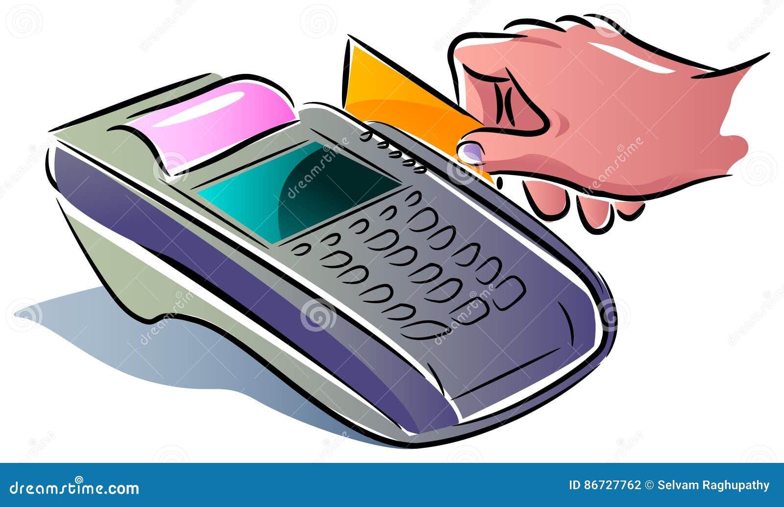 Płacić używać kartę