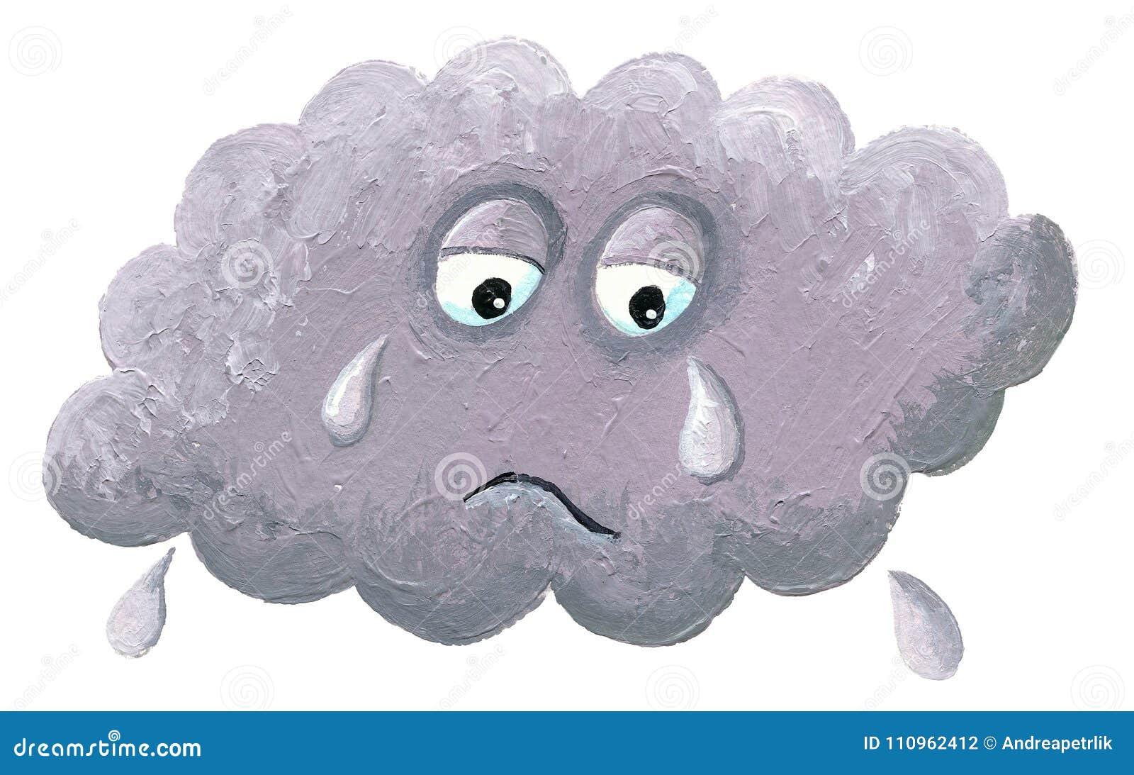 Płaczący chmurę - dżdżysta chmura