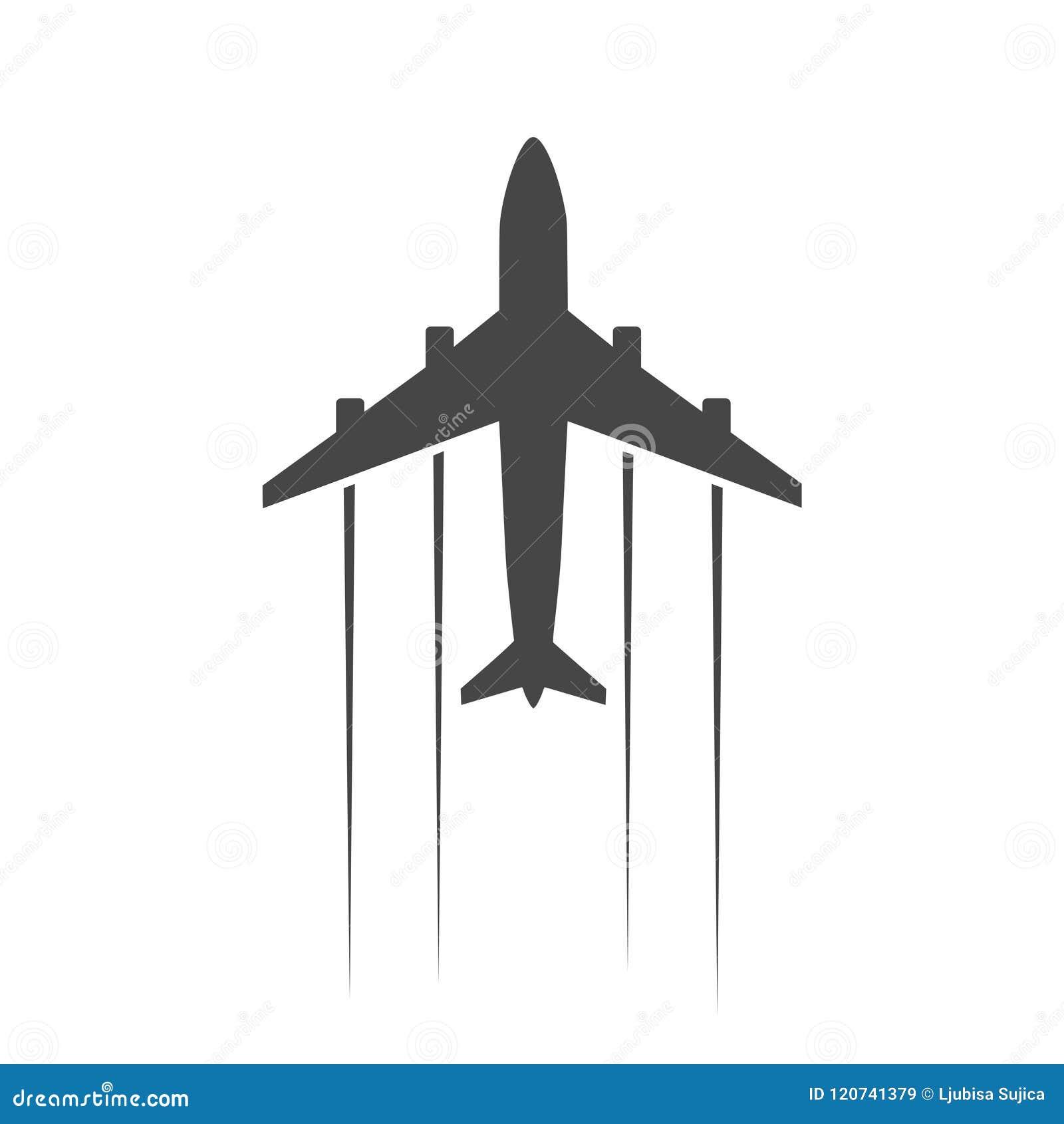 Płaska i samolotowa ikona