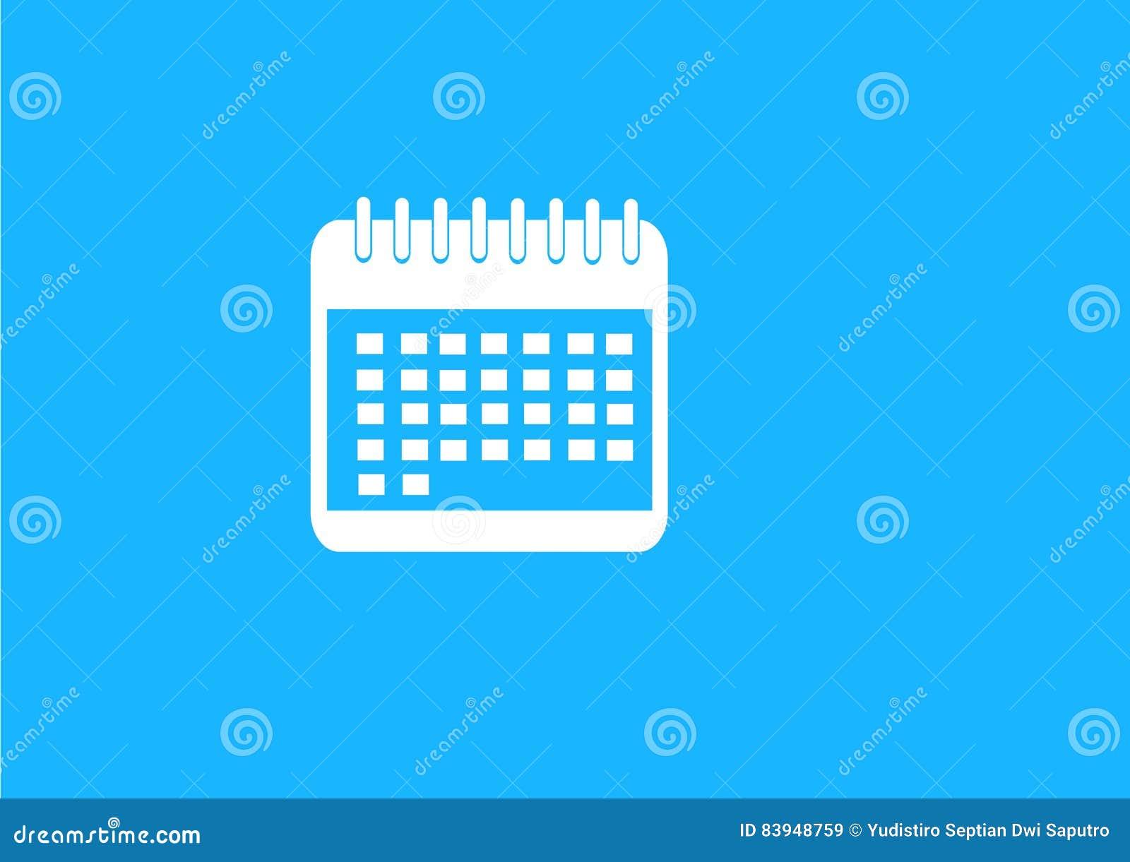 Płaski błękita kalendarza rozkład