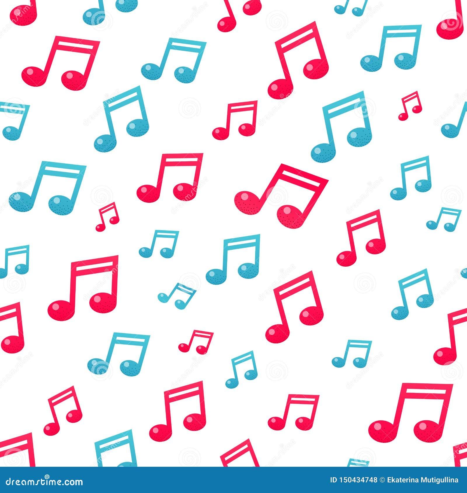 Płaski muzyki notatki wzór