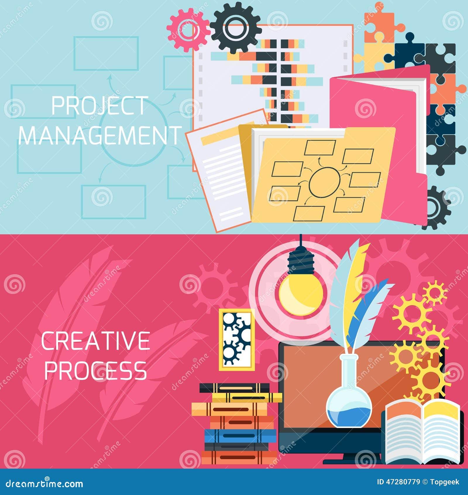 Płaski projekt zarządzanie projektem