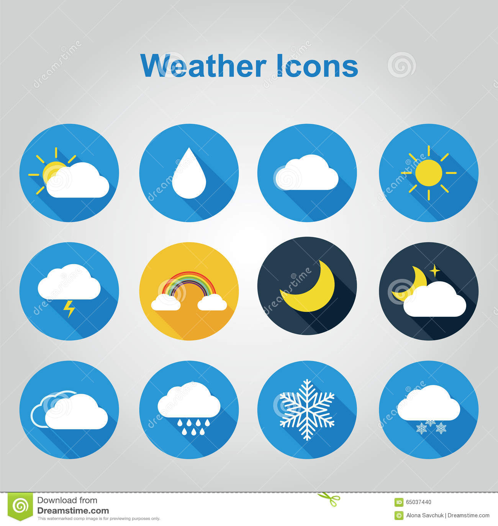 Płaskie kolor pogody ikony