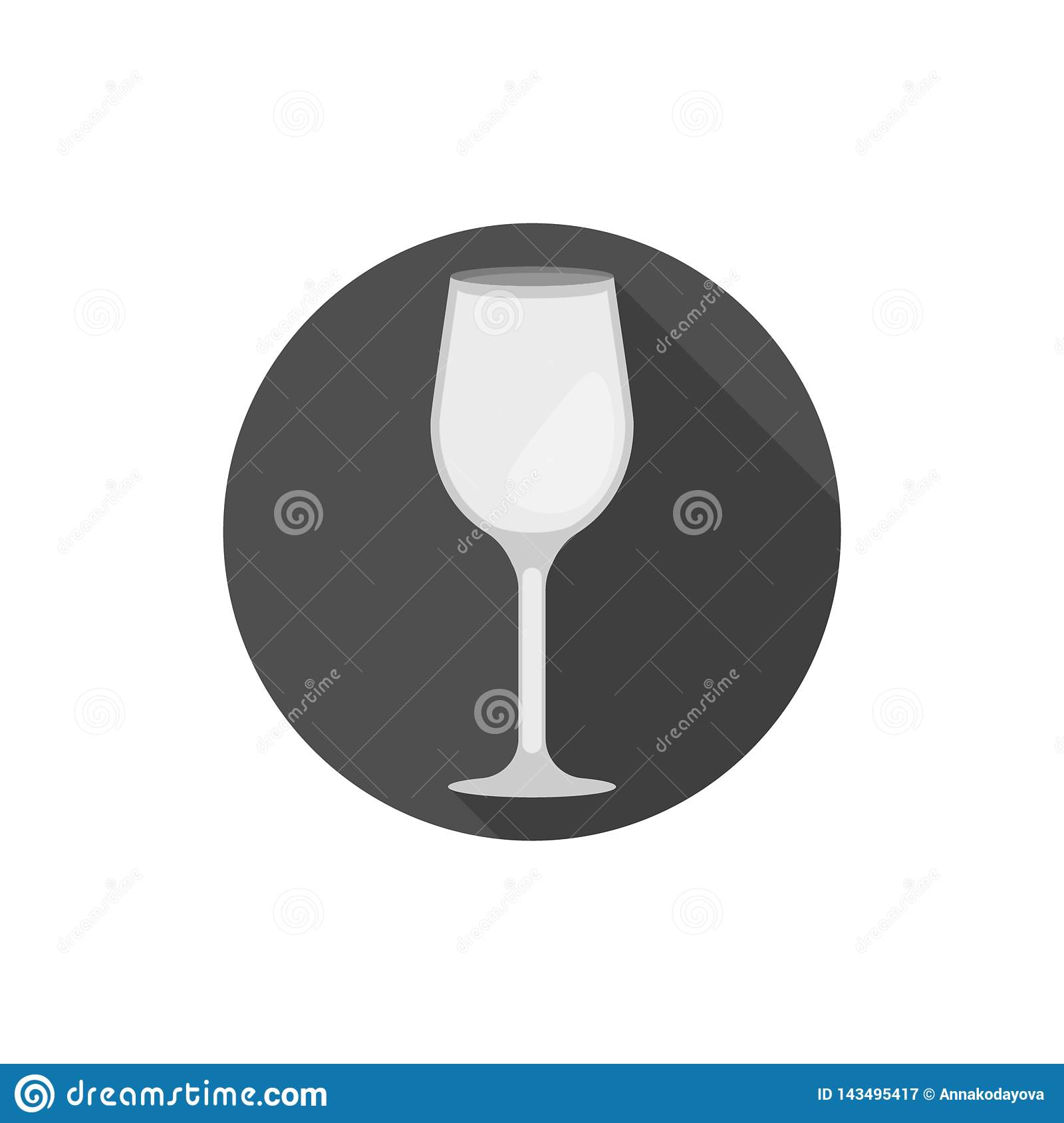 Płaskiego projekta wina Bordoski szkło