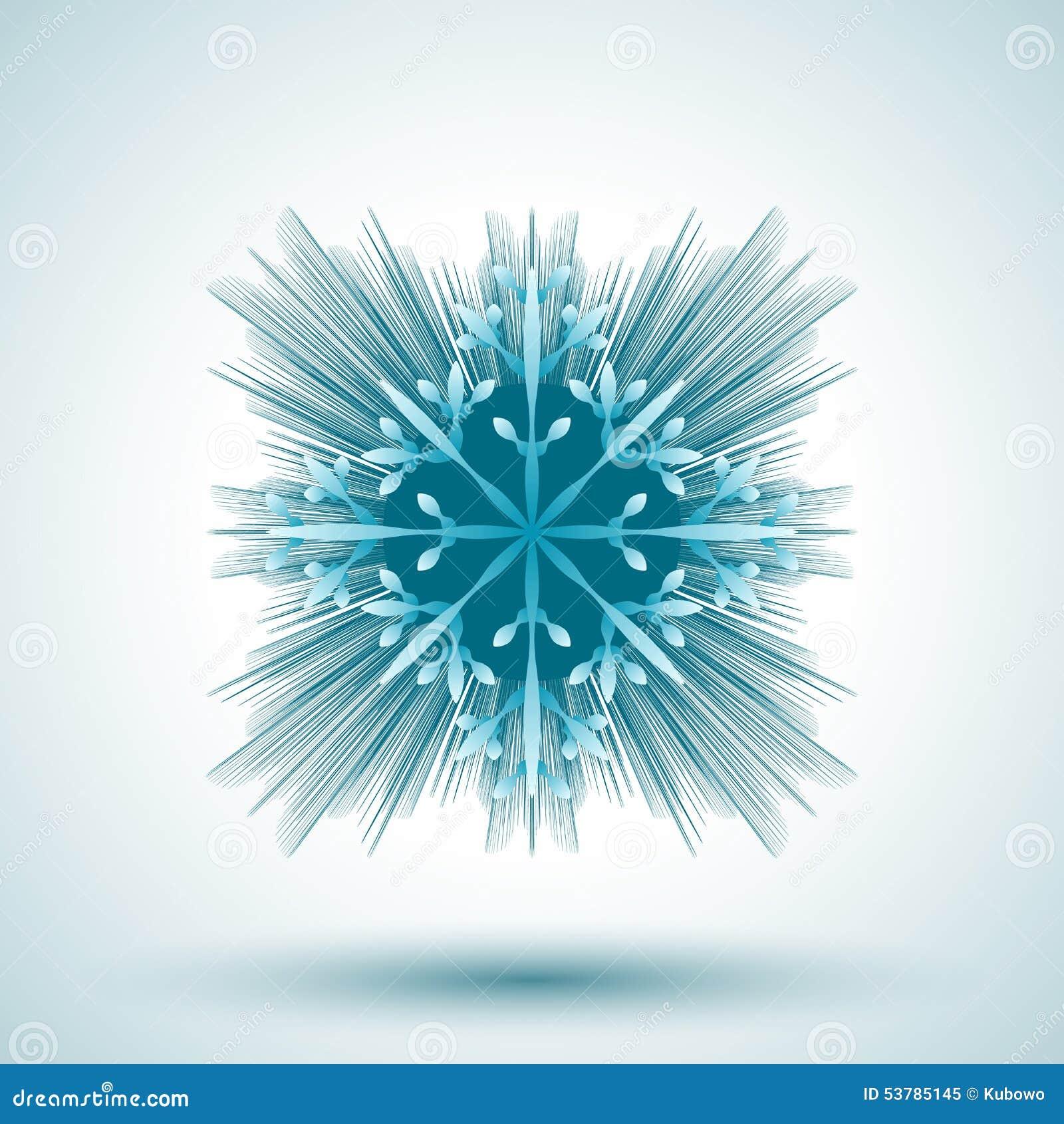 Płatek śniegu abstrakcyjne