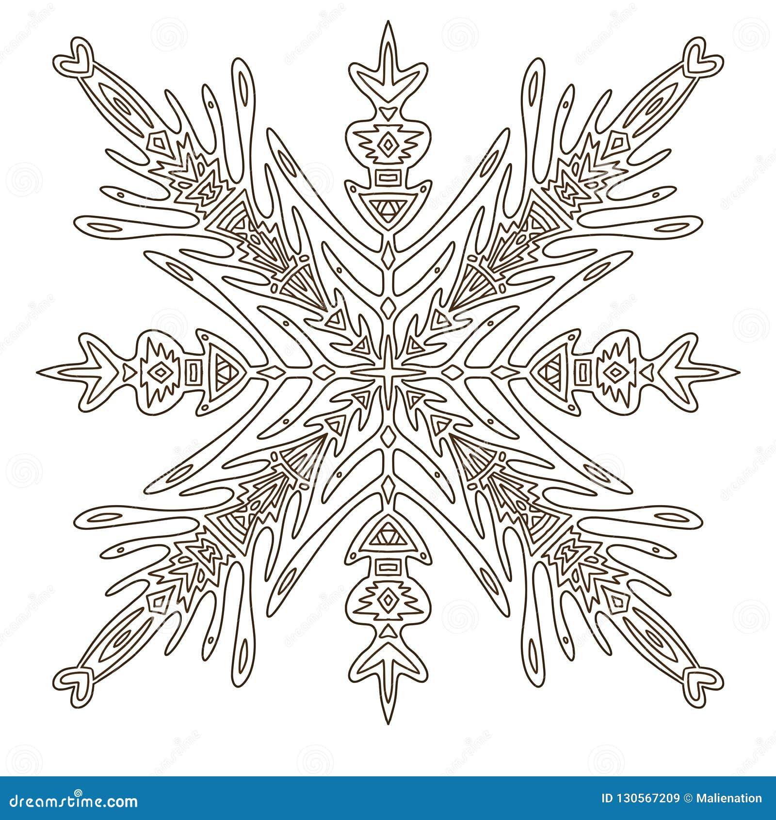 Płatek śniegu Bożych Narodzeń Illusration Dorosła