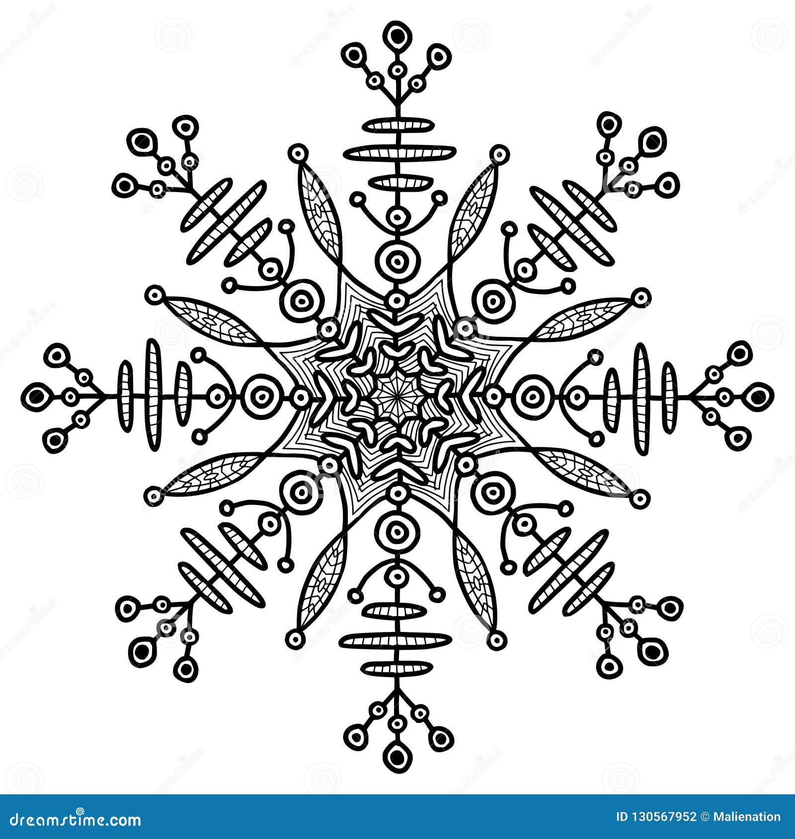 Płatek śniegu Kreatywnie Illusration Etniczny Chwilowy