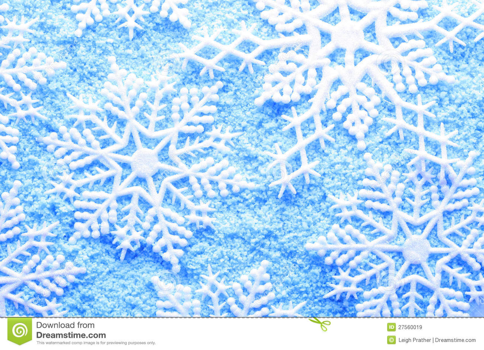 Płatek śniegu w śniegu