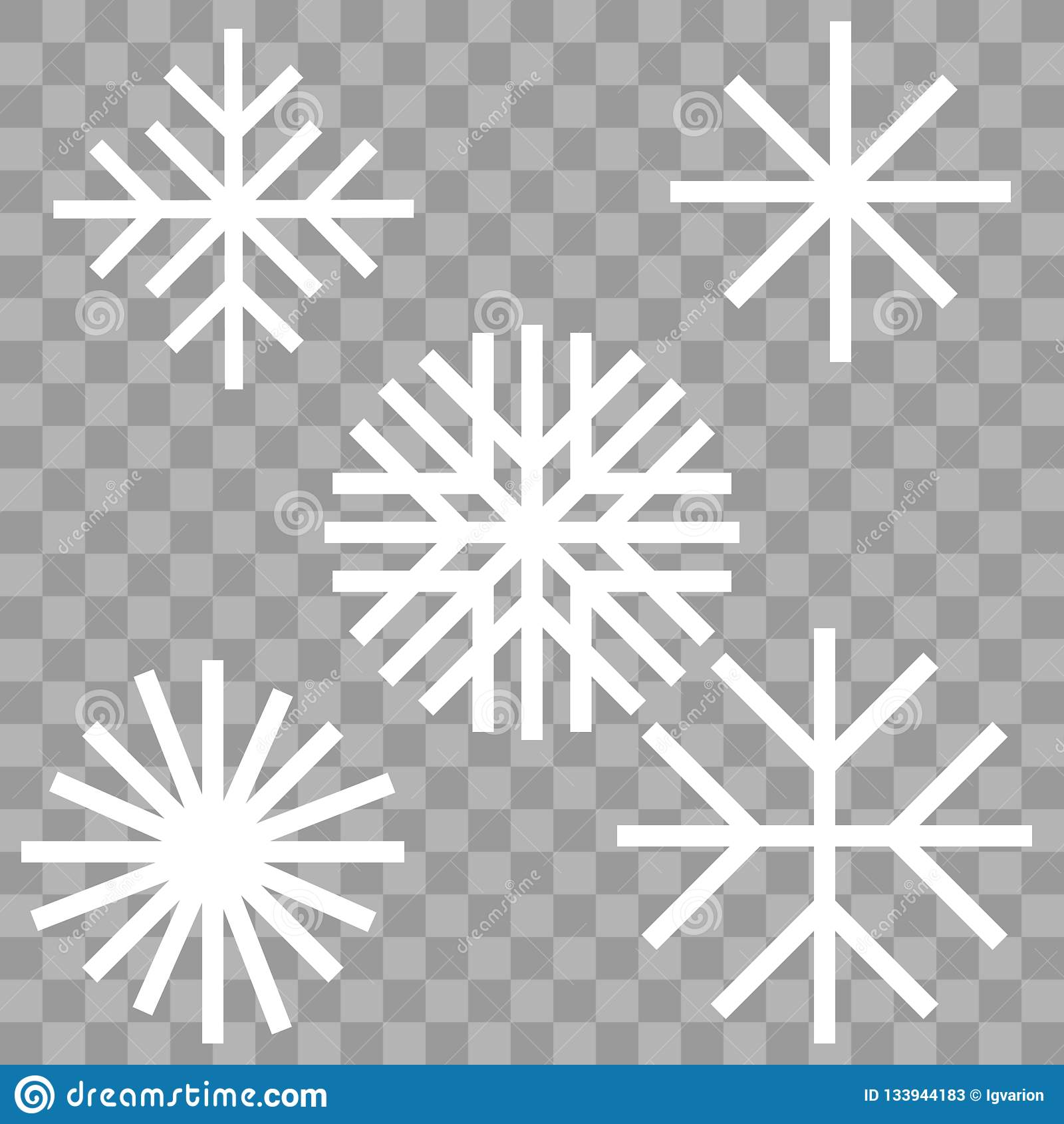 Płatek śniegu zimy set