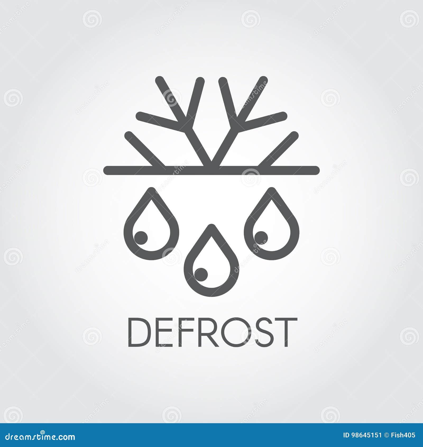 Płatka śniegu i kropli cienkiego uderzenia liniowa ikona Odmraża pojęcie loga i marznie Symbol fridge lub powietrza conditioner