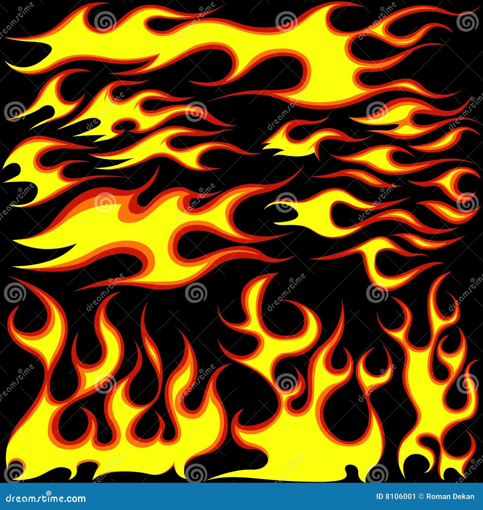 Płomieni symbole