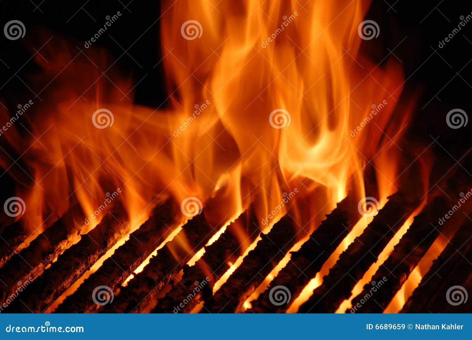 Płomienia grill