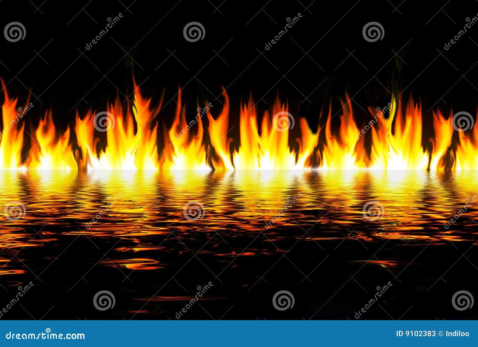 Płomienie nad wodą