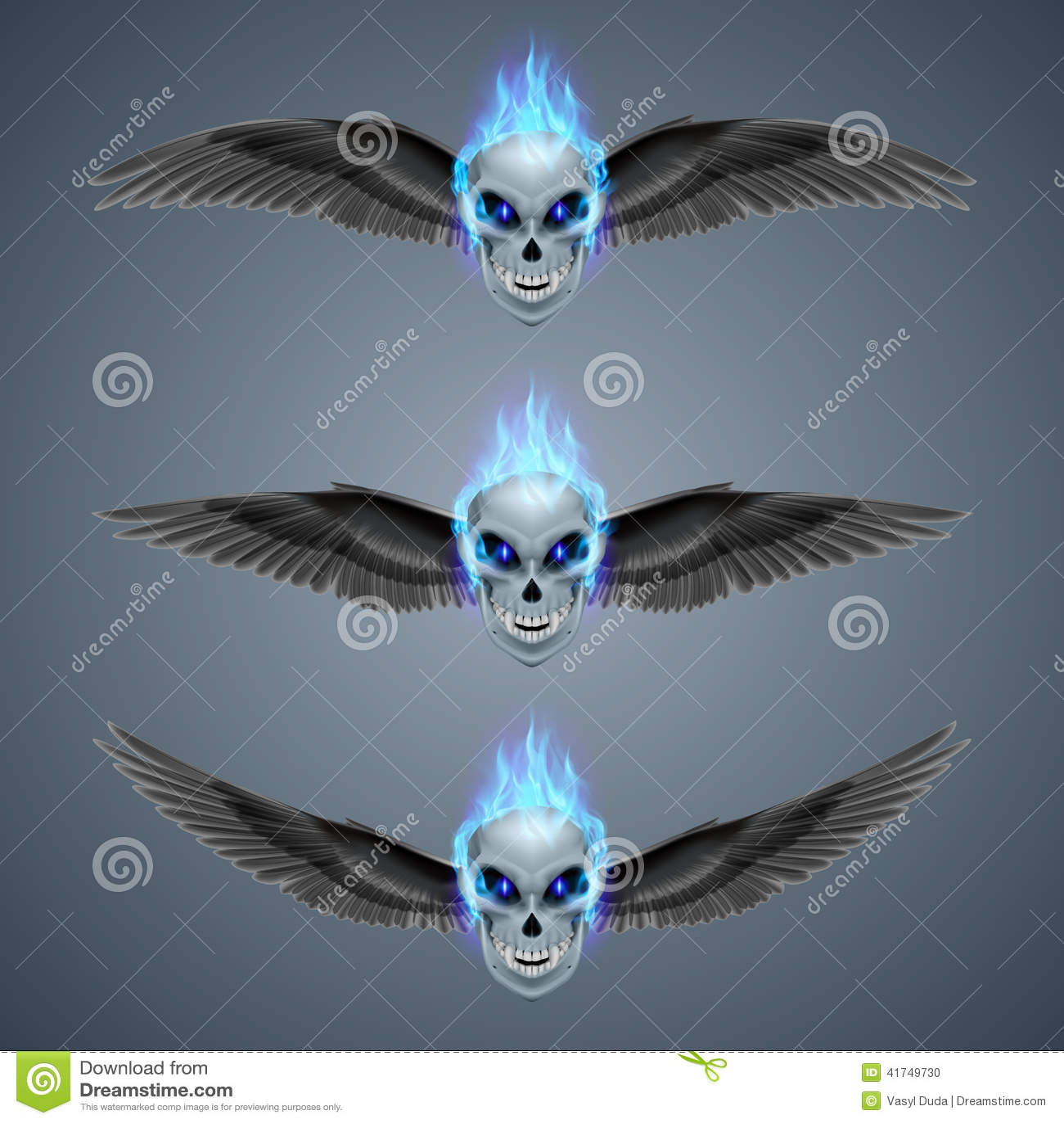 Płomienna mutant czaszka