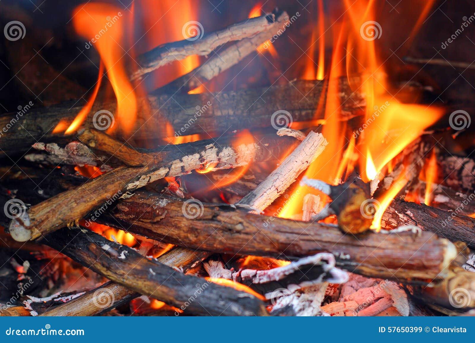 Płonąć drewnianego ogienia