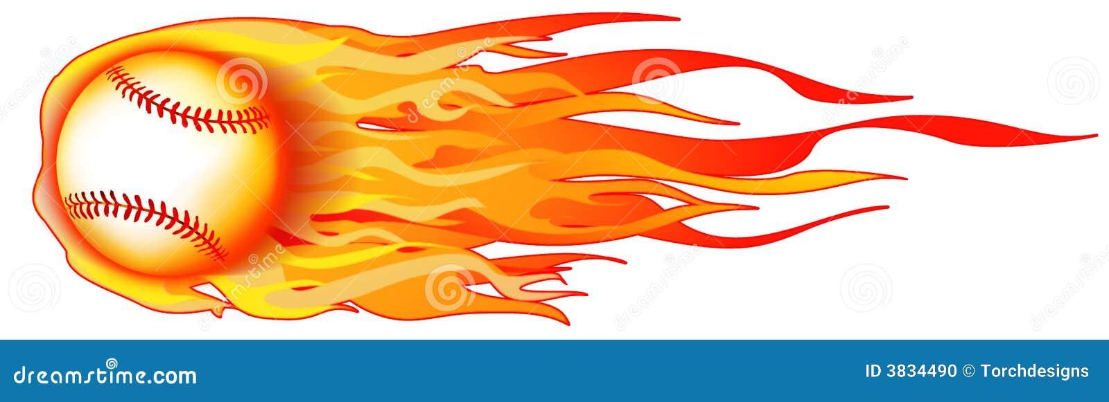 Płonąca ilustracja baseball