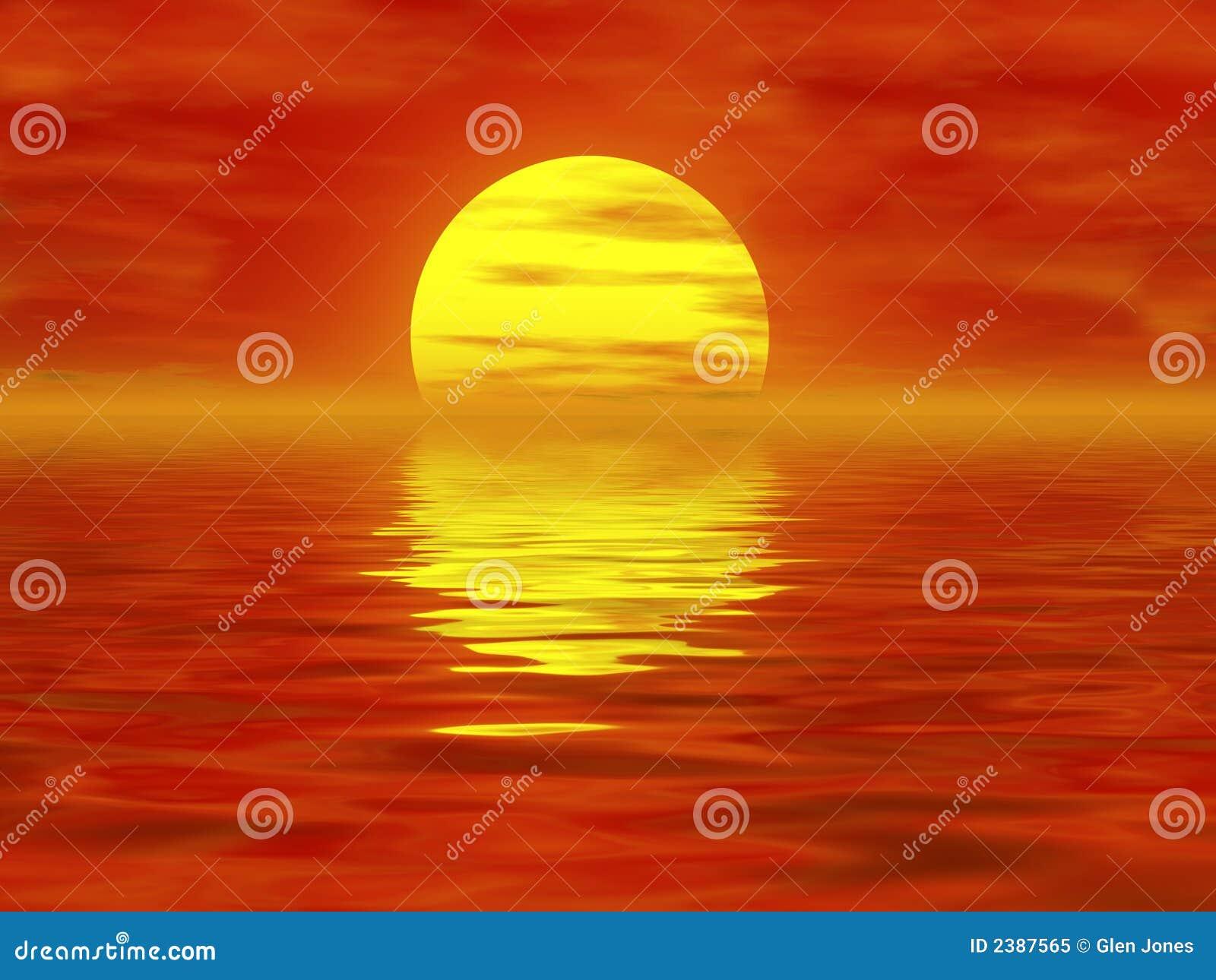 Płonące słońce