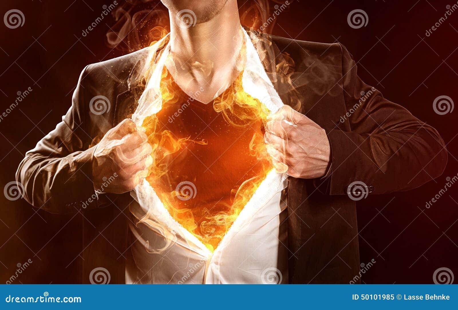 Płonący bohater