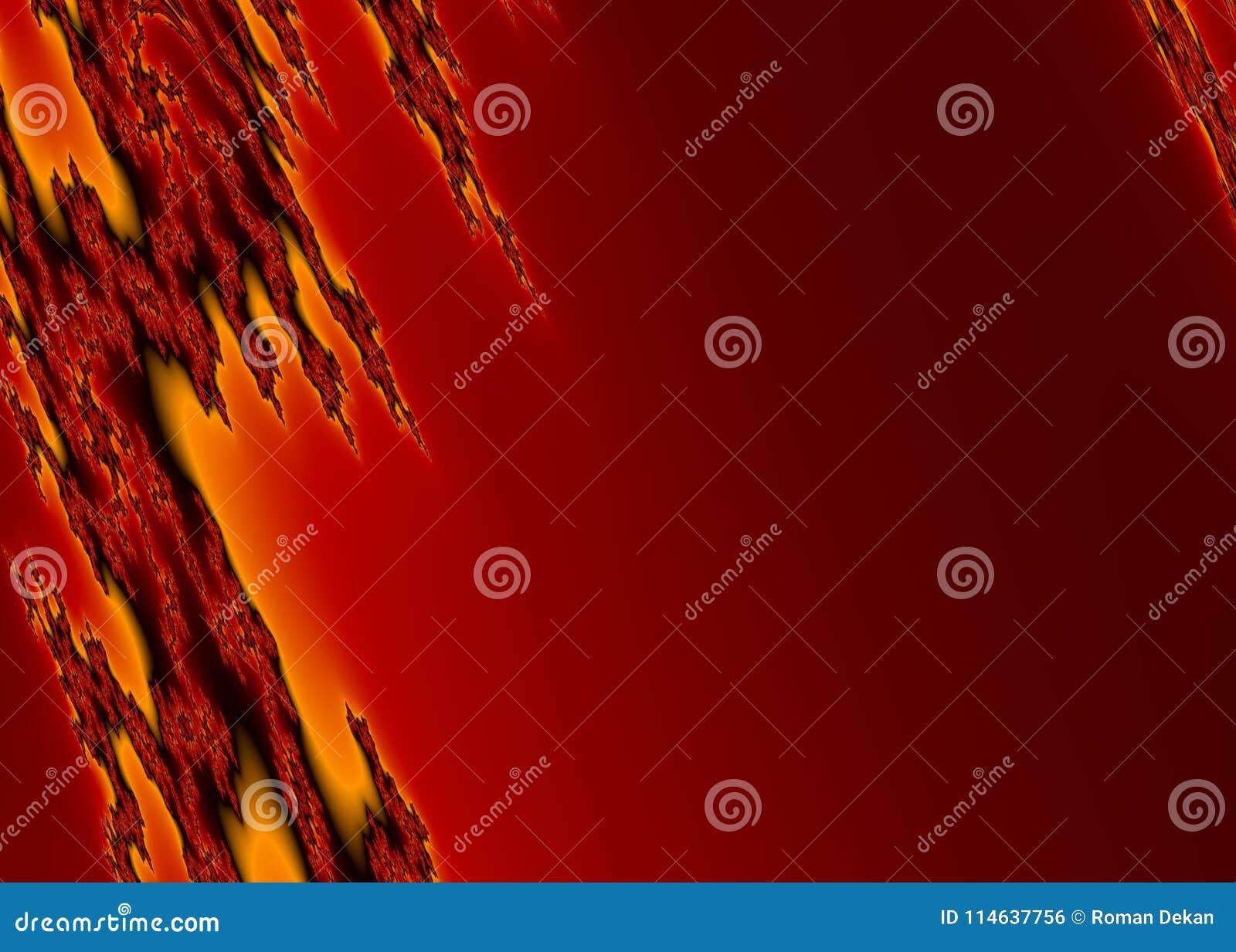 Płonący Fractal tło