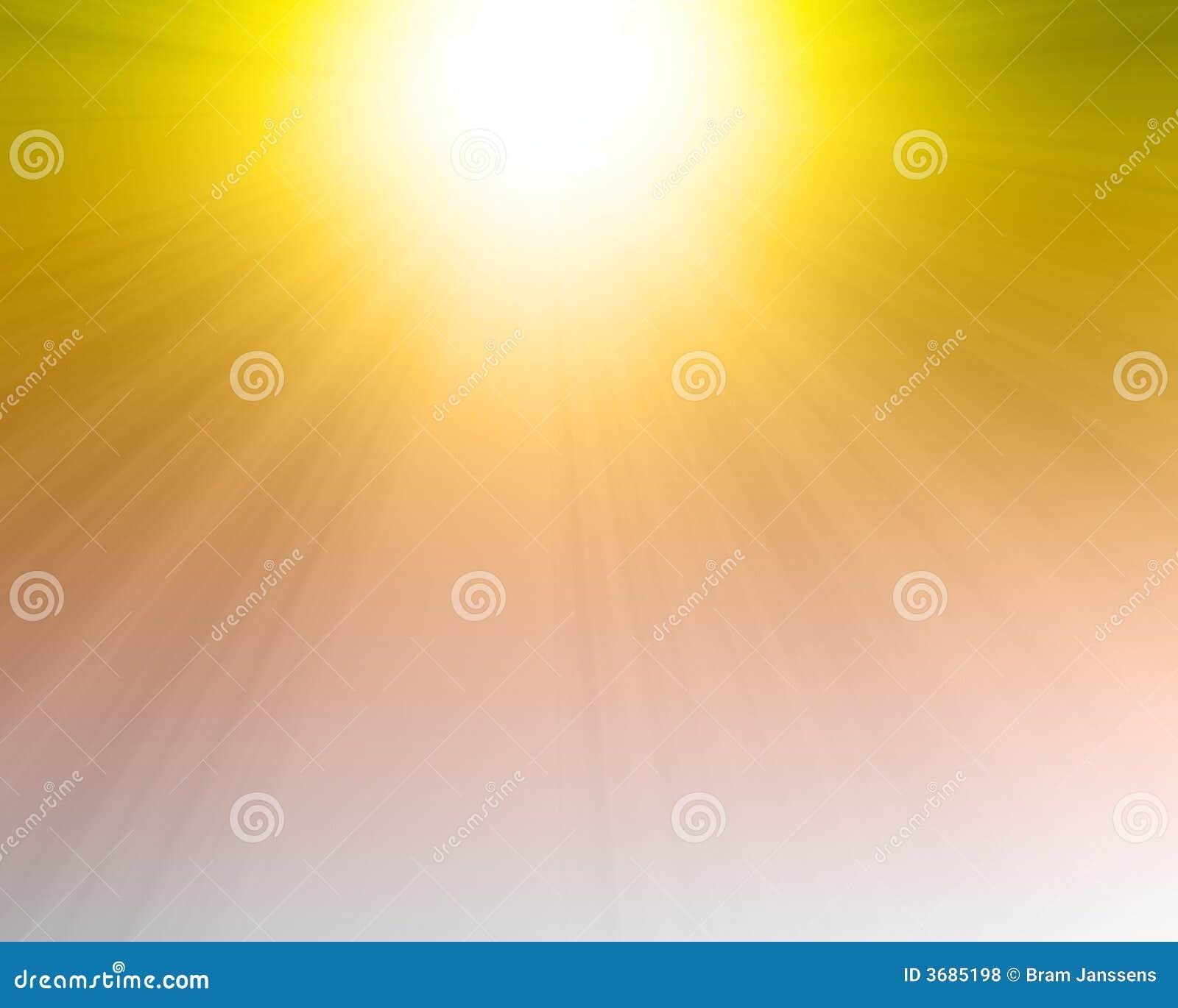 Płonący gorący słońce