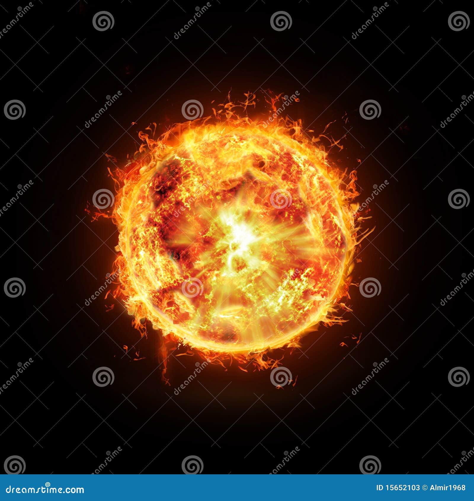 Płonący słońce
